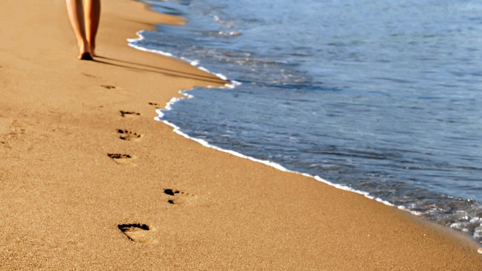 коврики выдвижные след на песке фото рисунком это комплект