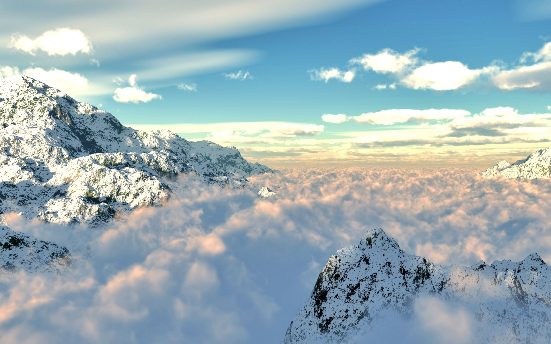 обои на рабочий стол горы в облаках майкл играл конго