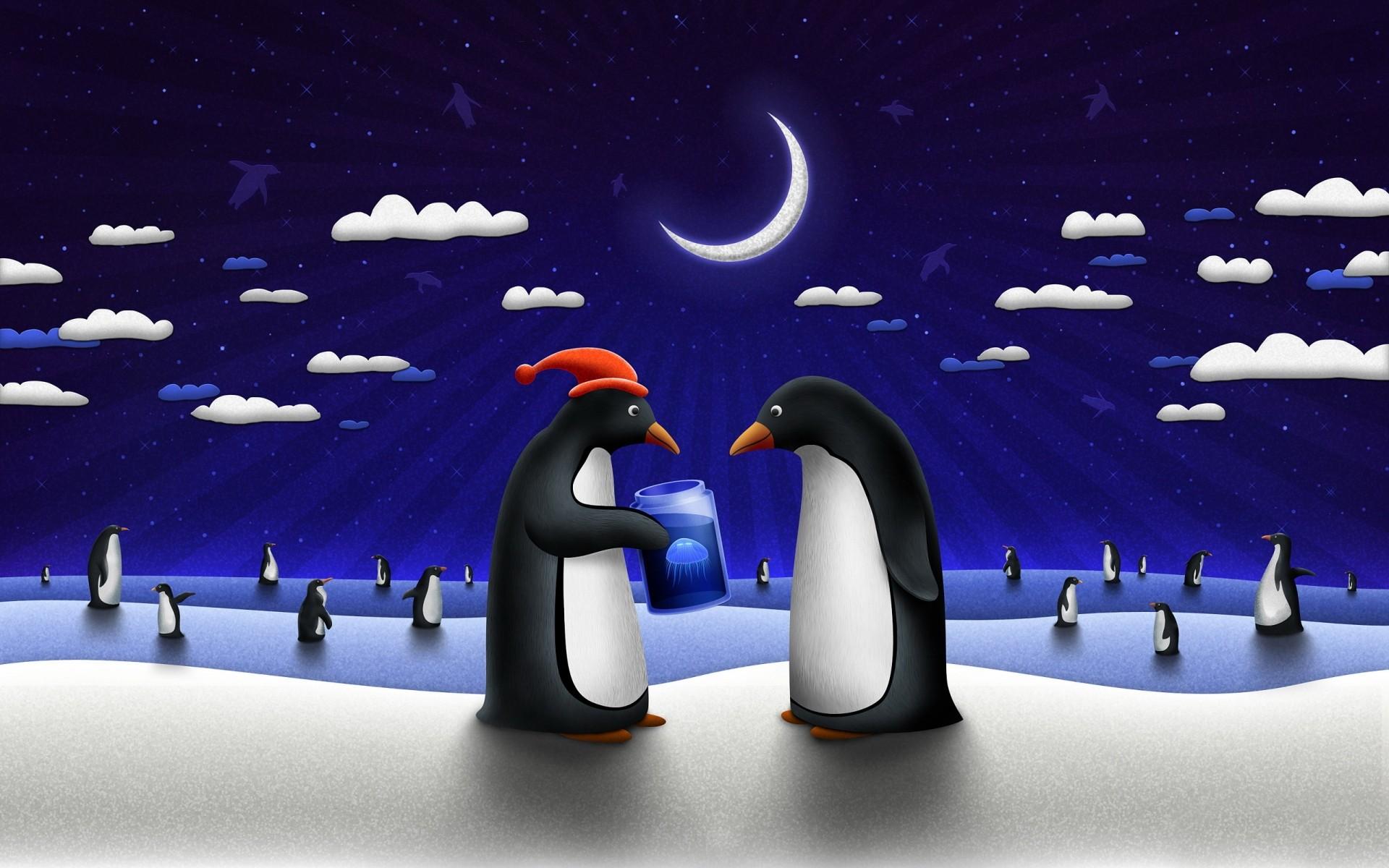 различные обои на рабочий стол пингвины на льдине окна