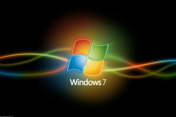 Windows 7 с логотипом