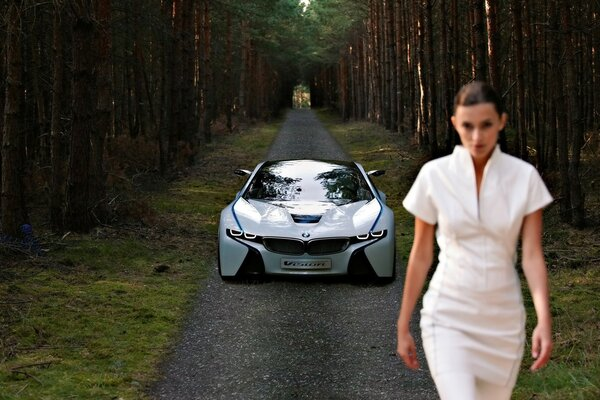 BMW Vision EfficientDynamics передняя 2009 года