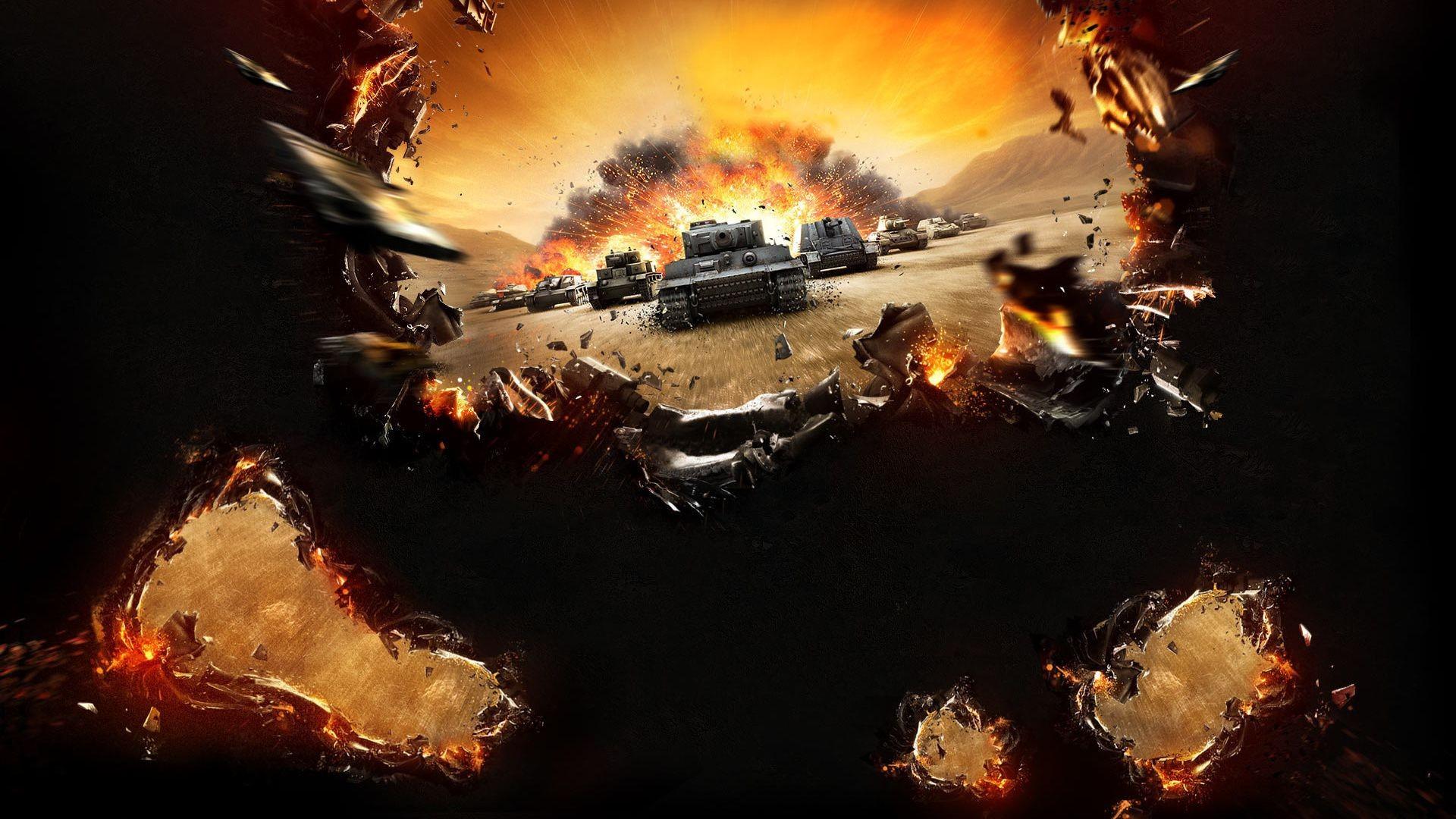 Взрыв и игре world of tanks - скачать обои на ...: million-wallpapers.ru/wallpaper/vzryv-i-igre-world-of-tanks/id/5082