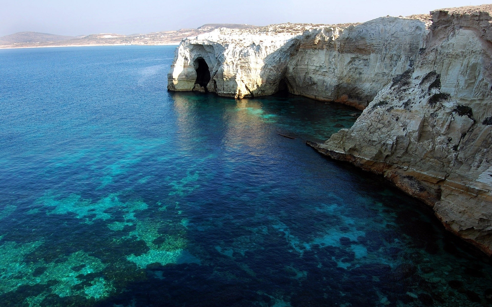 Картинки на рабочий стол море греция