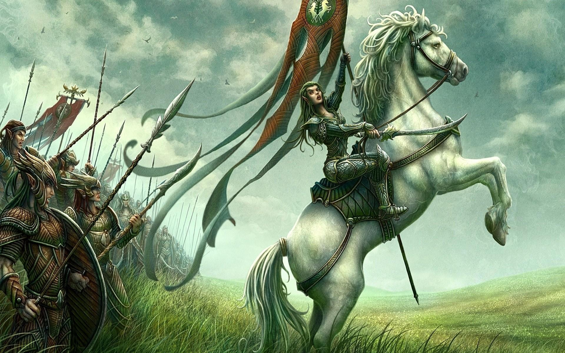 Воин на коне на картинке
