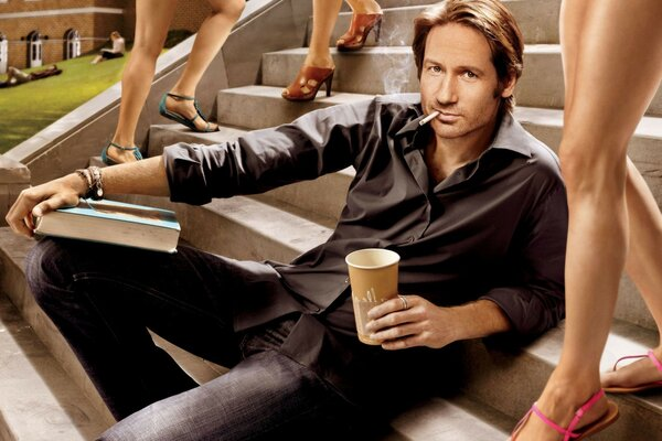 Дэвид Духовный Californication david duchovny актер сига