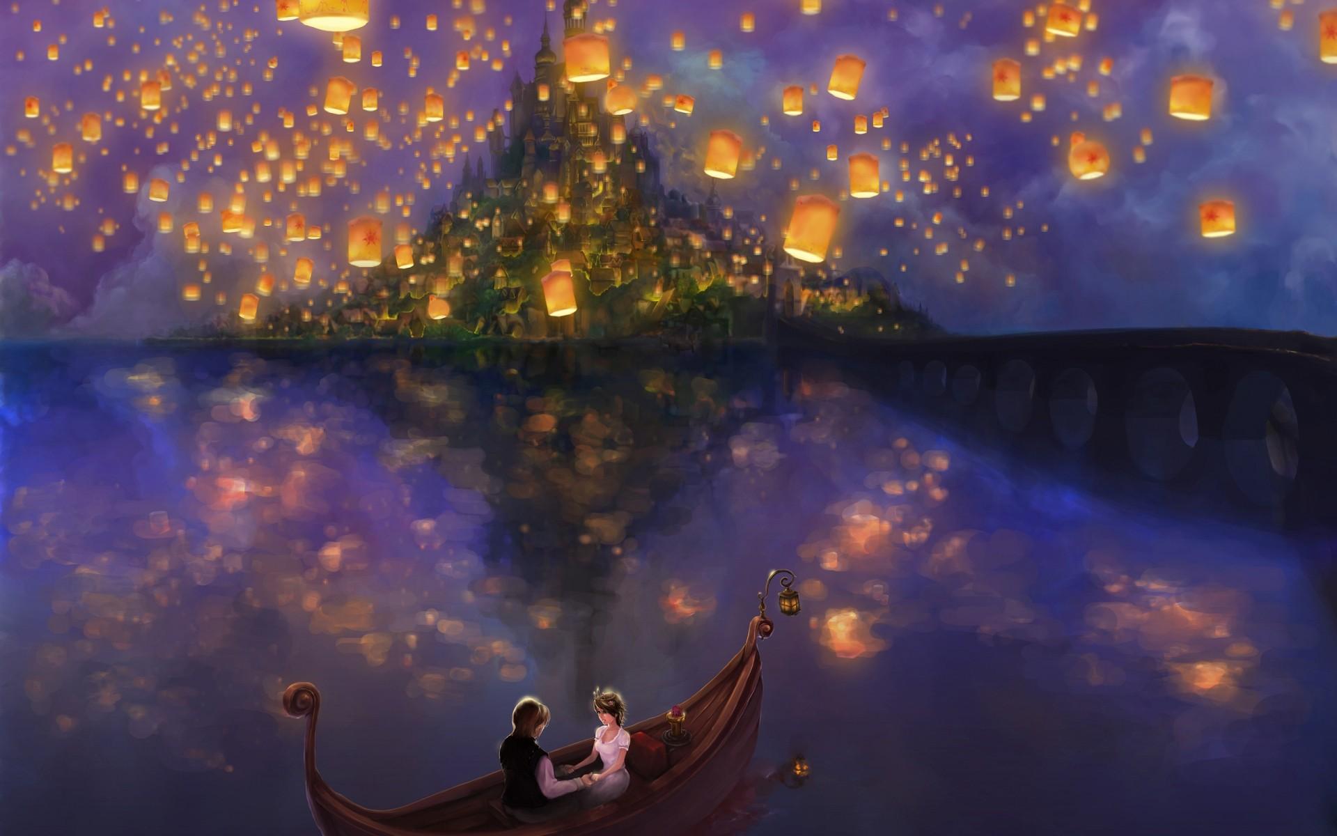 Красивая открытка сказочной ночи
