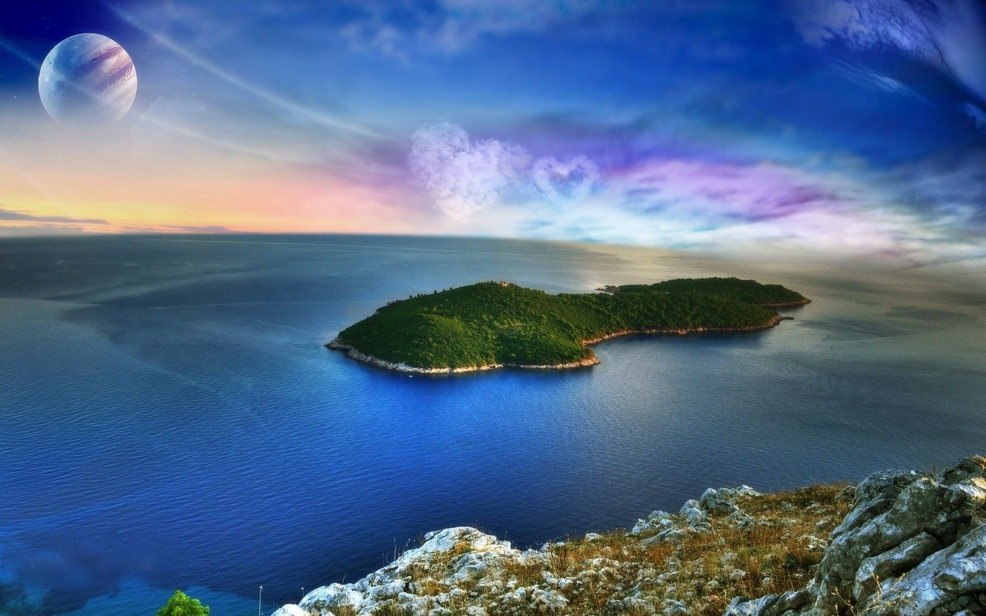 Обои Облака, остров. Природа foto 17