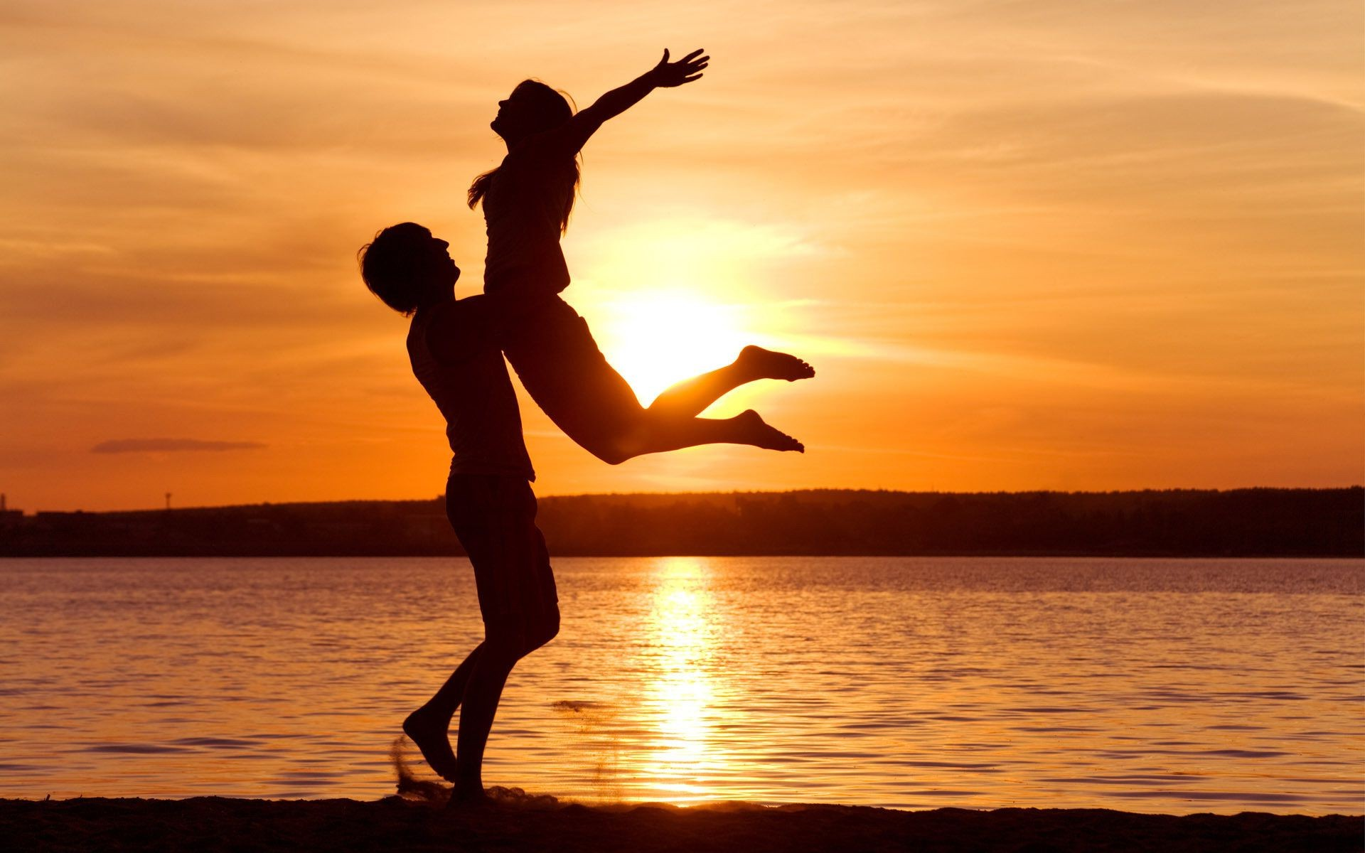 Love закат любовь свобода чувтсво берег