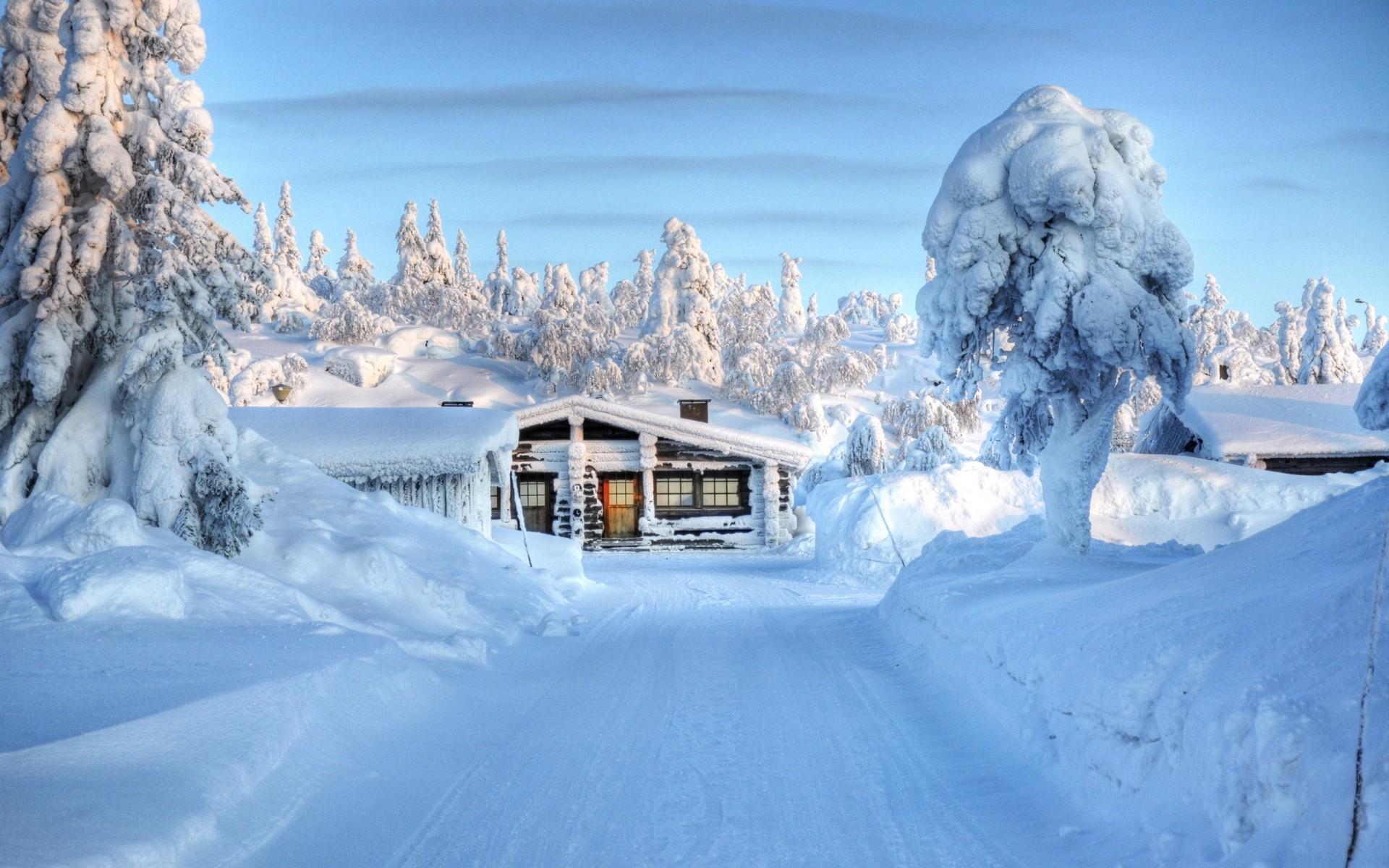 составляющие придают домик в снегу фотообои для рабочего стола мне нигде