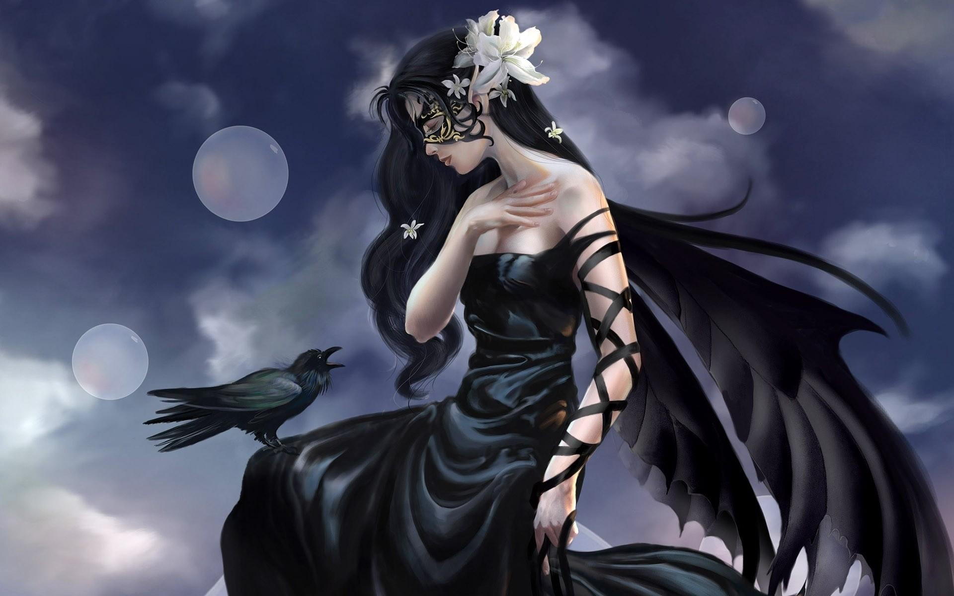 Картинки черный ангел красивые