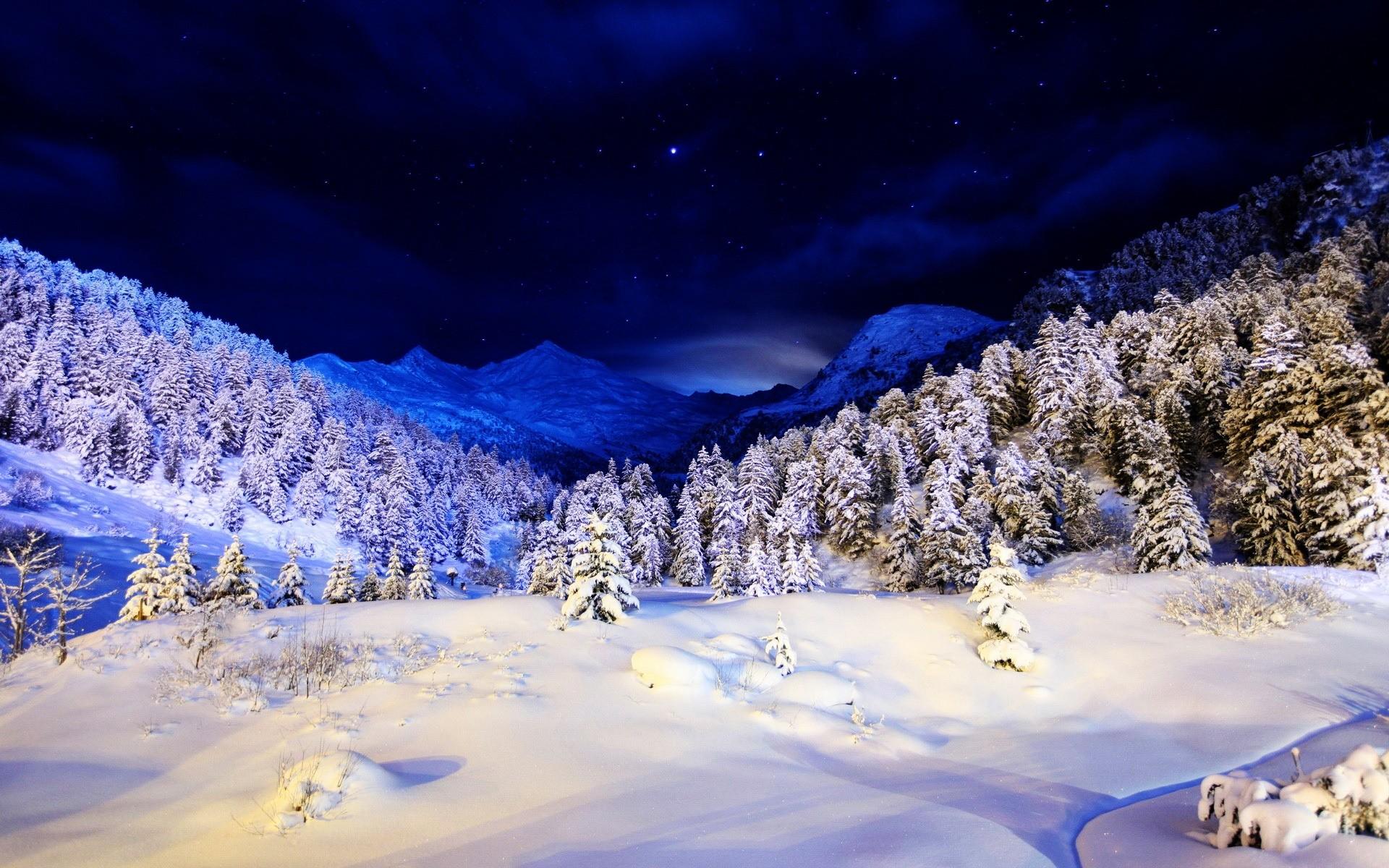 Картинки снег новый год на рабочий стол