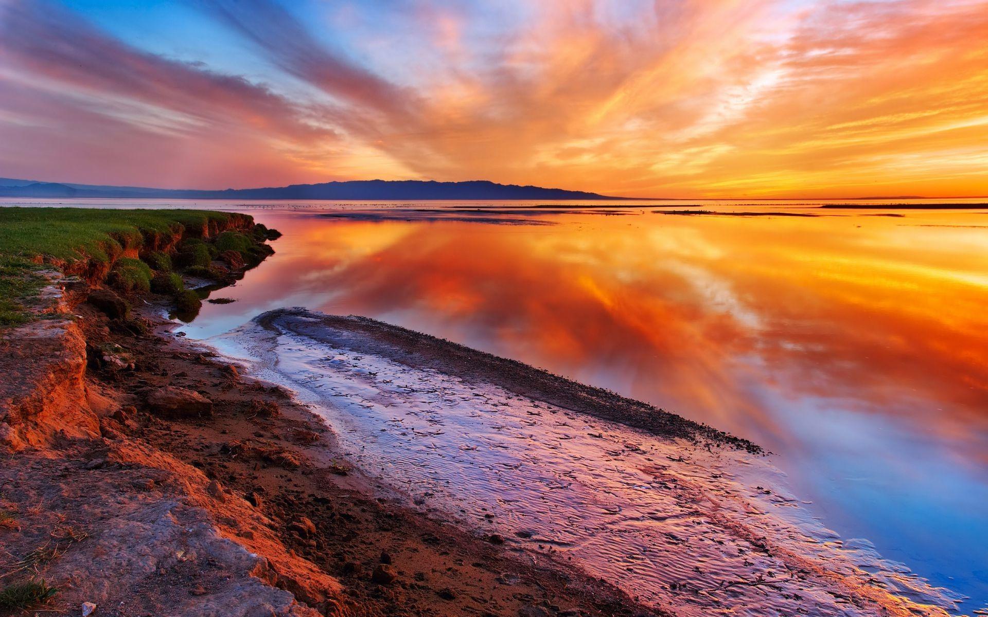 Картинки природа закат красивые, красивые цветной