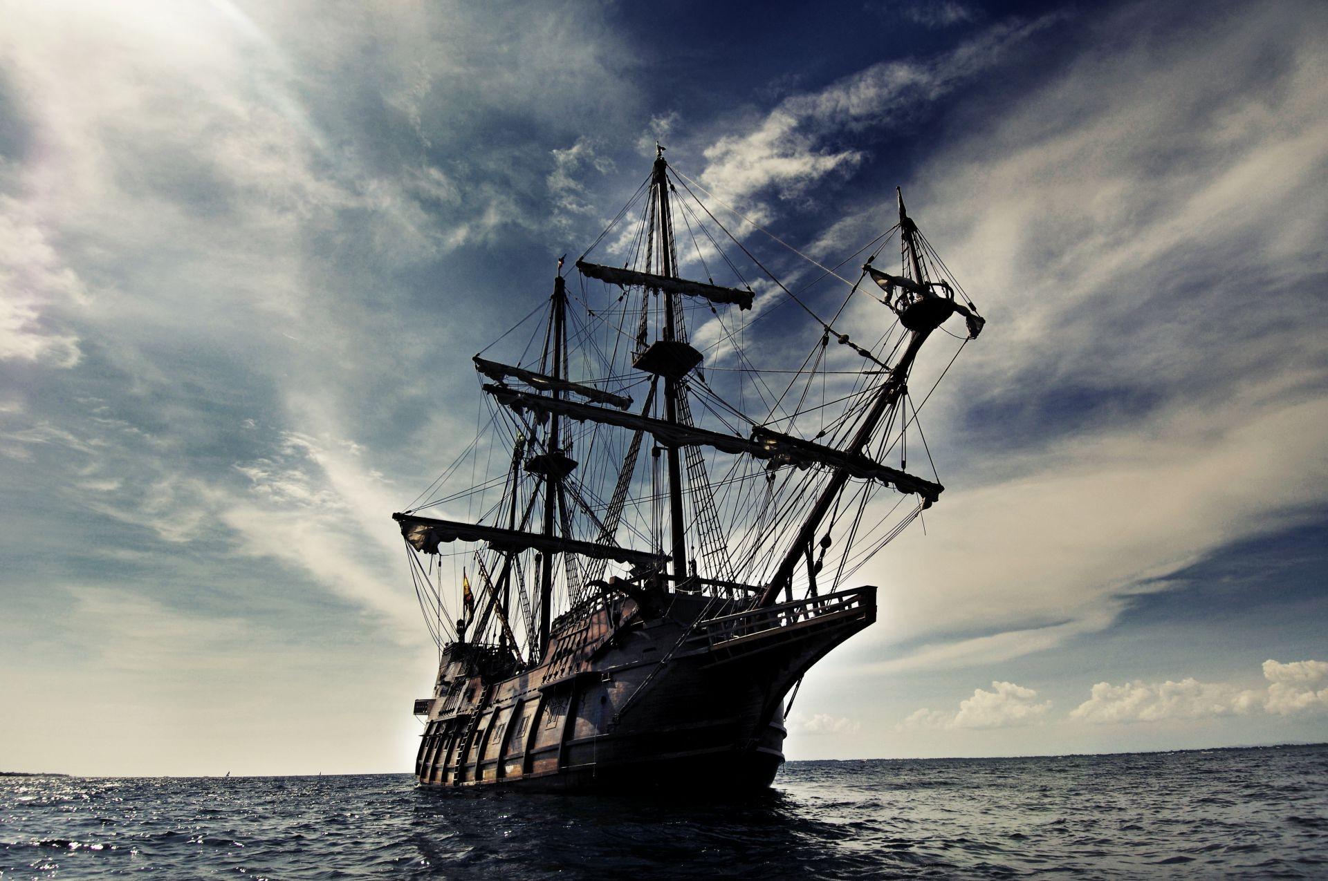 Обои корабль, парусник, Облака. Пейзажи foto 7