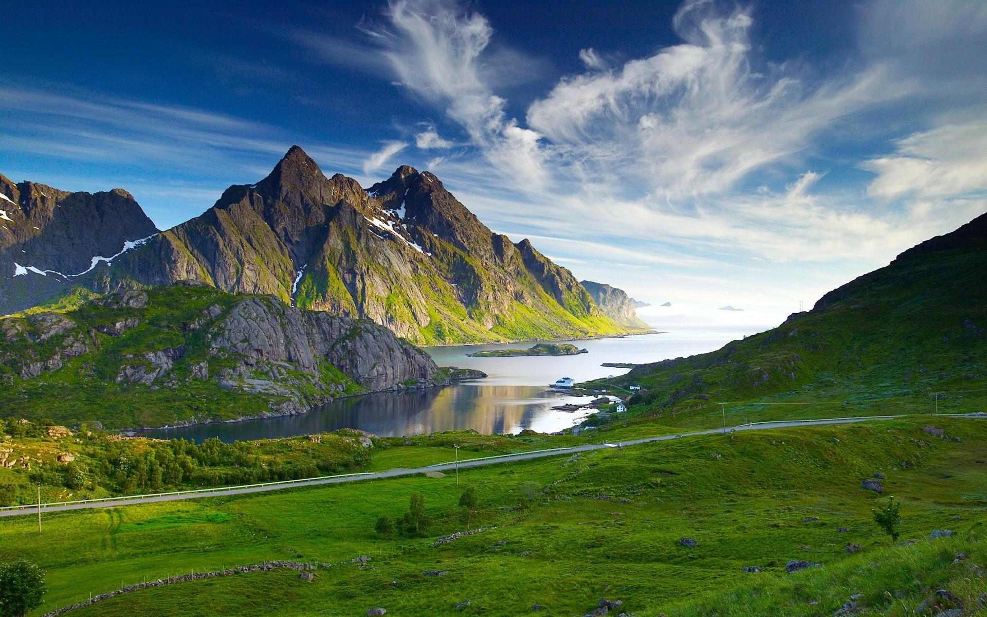 Обои высокая трава, сумерки, облака. Природа foto 14