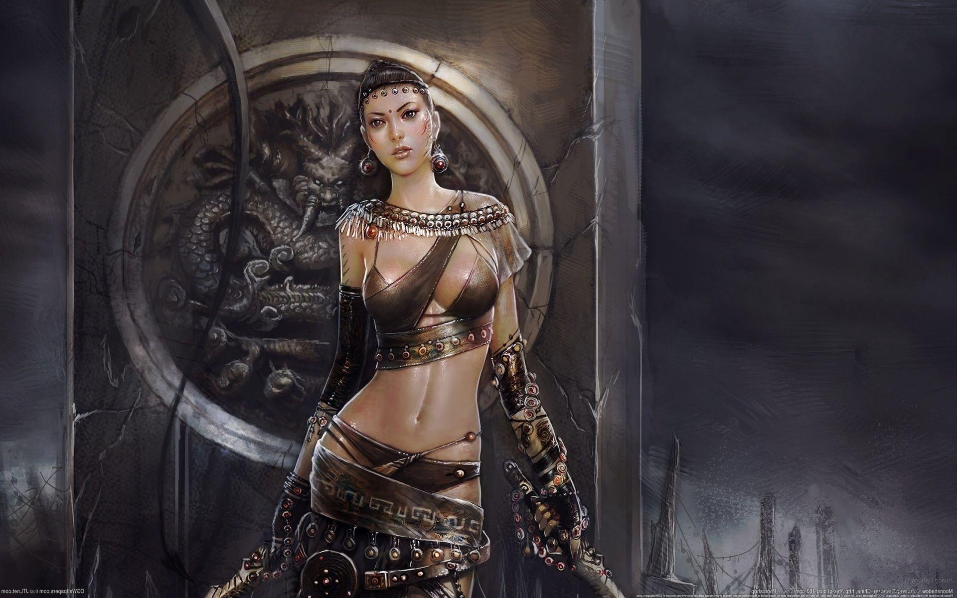 Сексуальный девушки воительницы