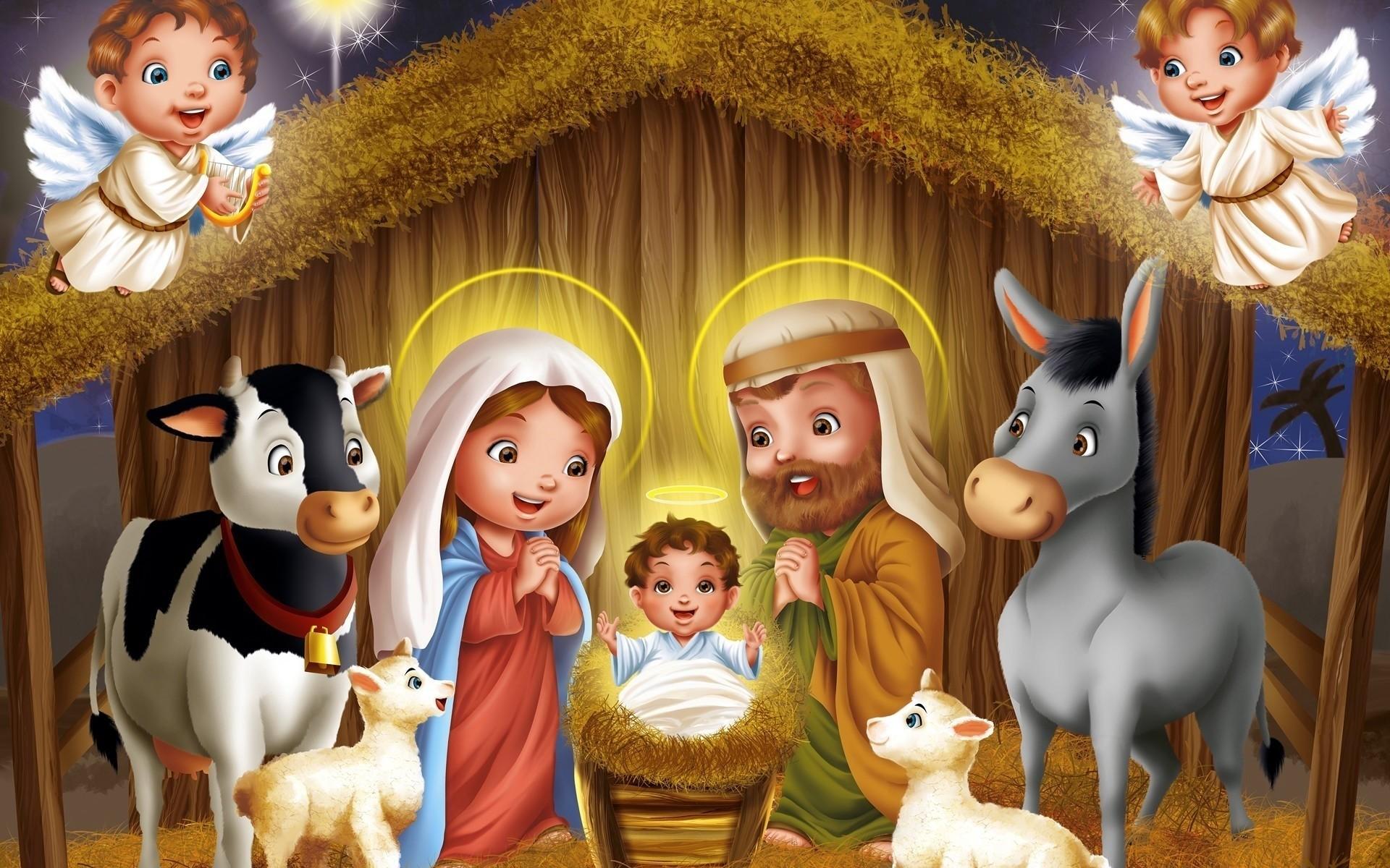 Рождественские картинки детские