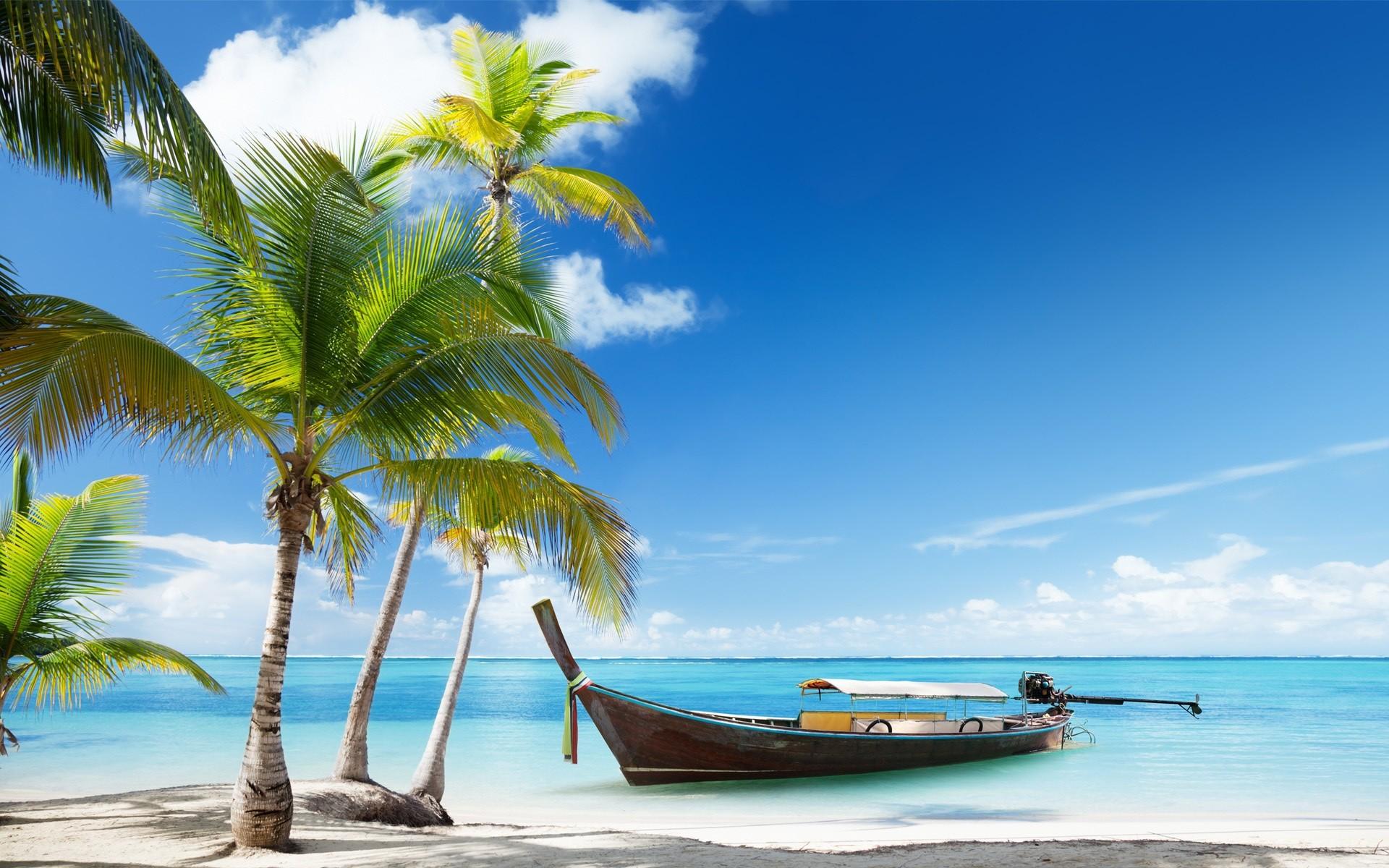 Февраля для, открытка красивого пляжа