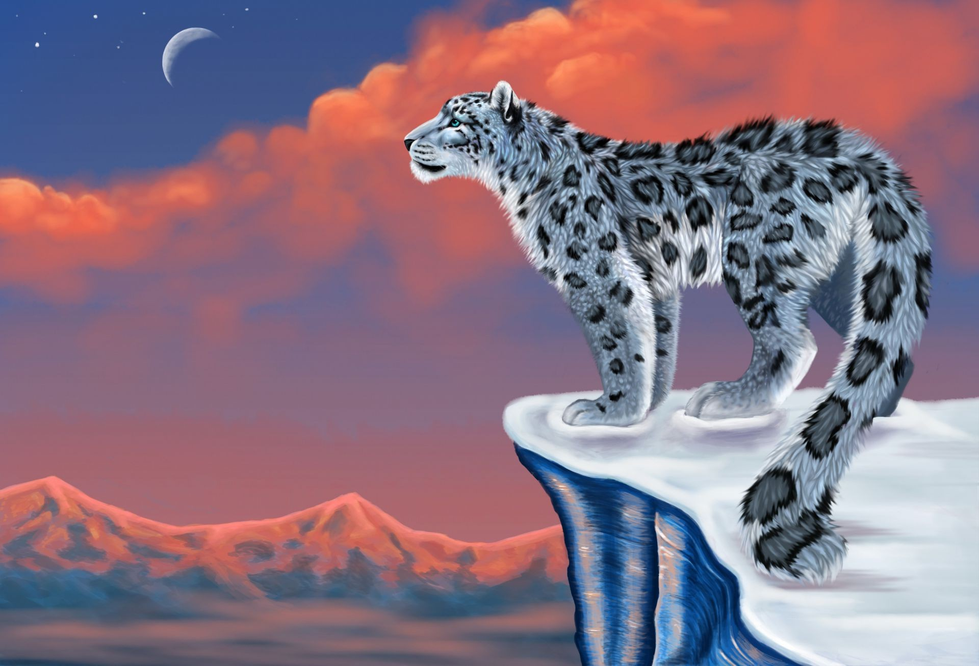 Wild beast: abstract vector illustration of snow leopard bars иллюстрация