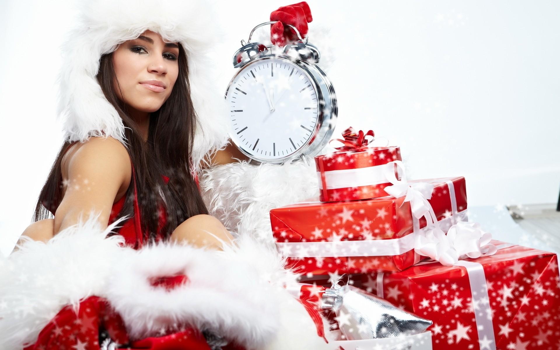 Рождественские картинки с девушками, заполнения