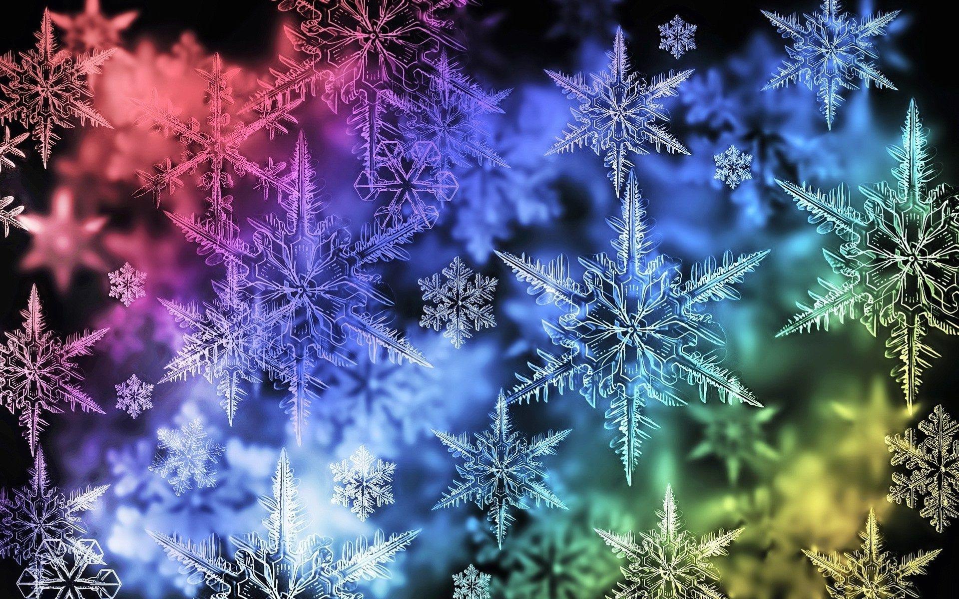 Картинки красивые снежинки на телефон