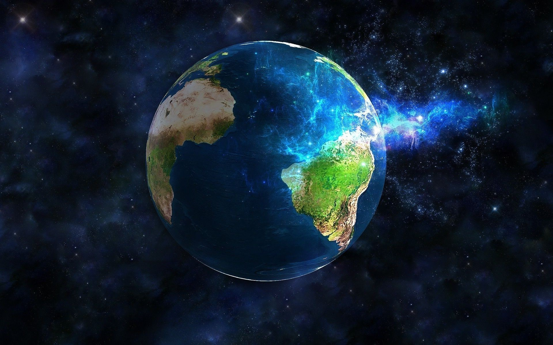 Обои на рабочий стол планета земля