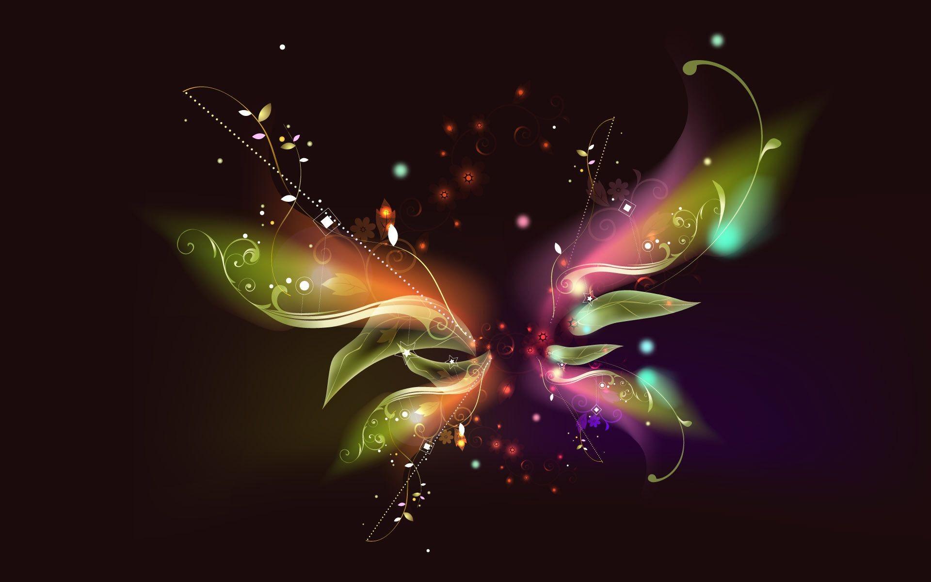 бабочка линии частицы без смс
