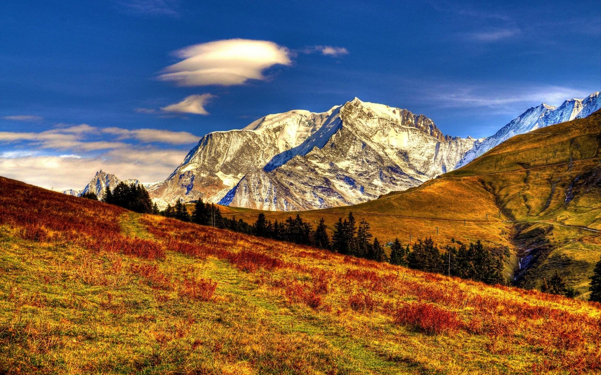 фотодизайна картинки горный пейзаж время