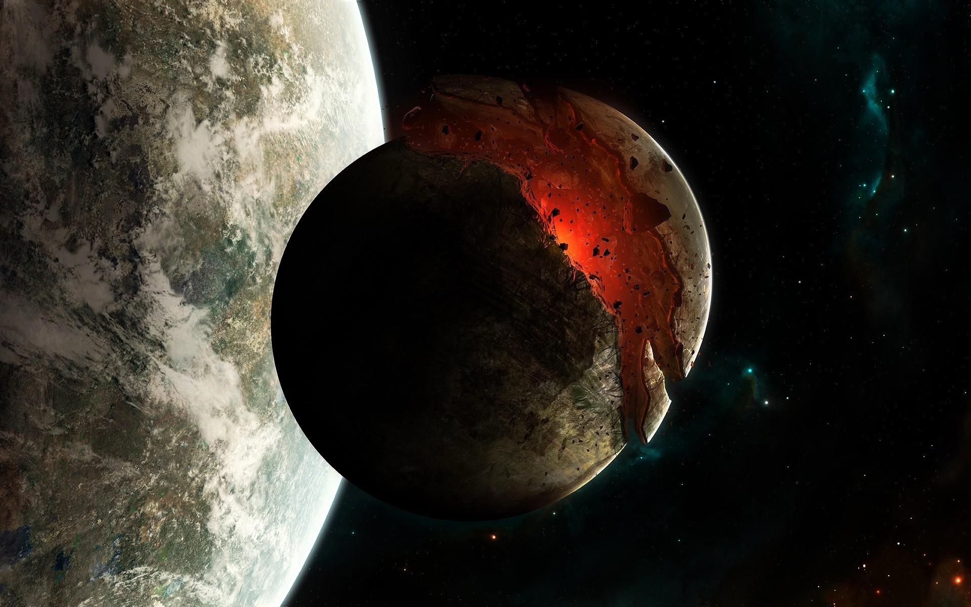 Обои спутник, планеты, катастрофа. Космос foto 14
