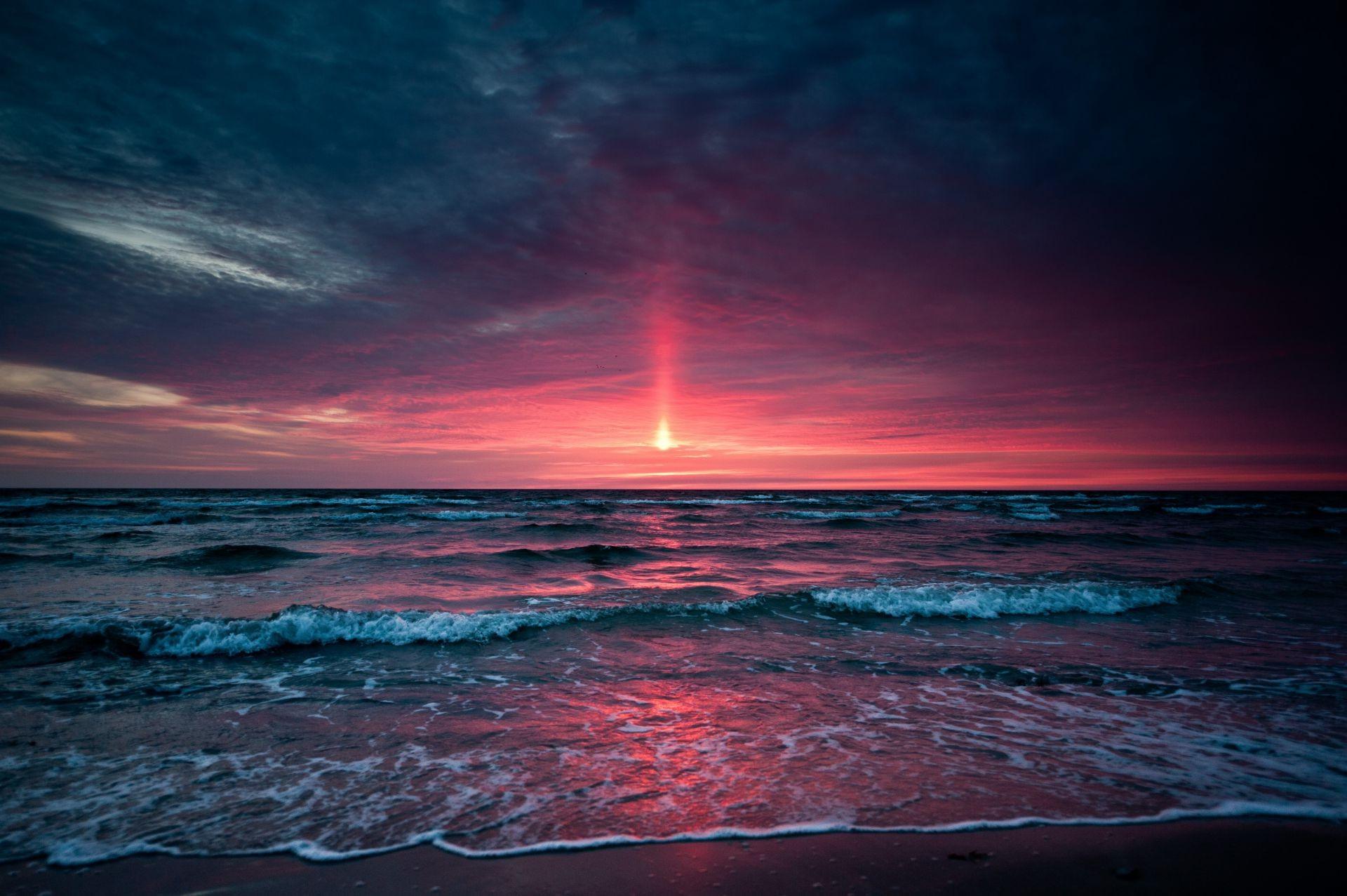 закат над бушующим морем  № 602758  скачать