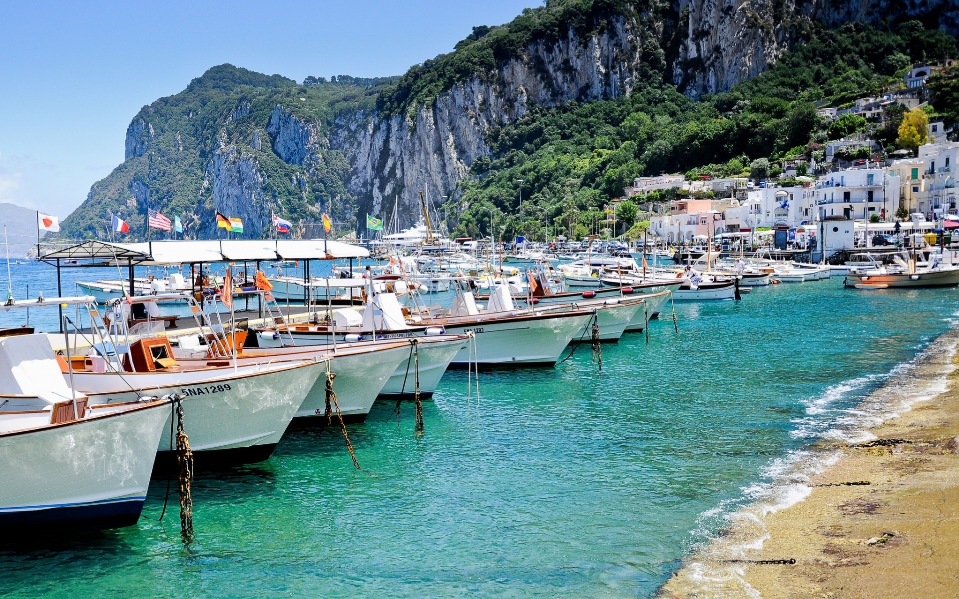 италия пляжи обои на рабочий стол № 507077  скачать