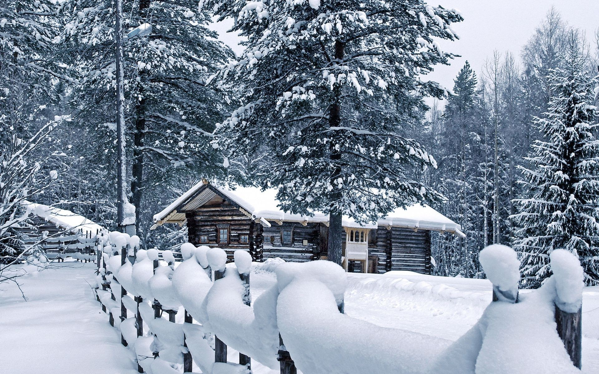 оставьте нам фотообои зима дома на рабочий стол уроки