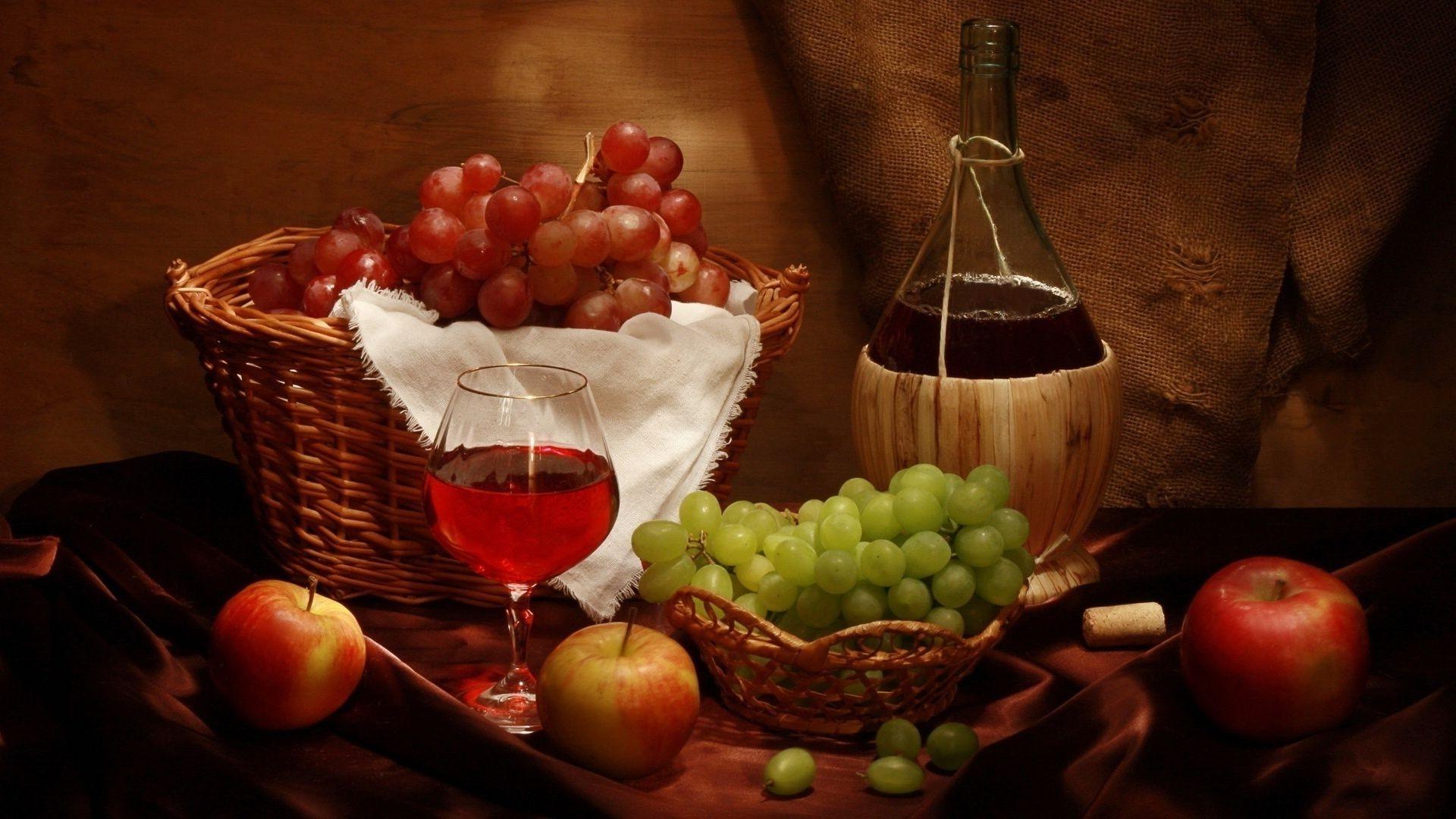 Господне, картинки с вином и фруктами