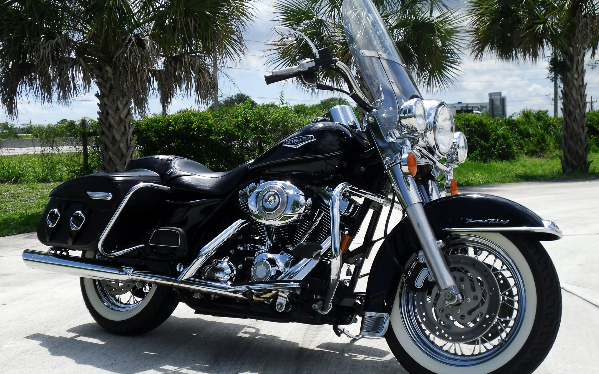 Обои Мотоцикл, Harley davidson, Пейзаж. Мотоциклы foto 15
