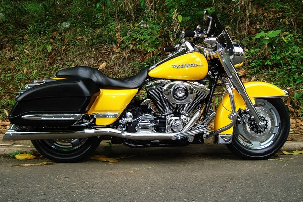 Harley Davidson Road King желтый