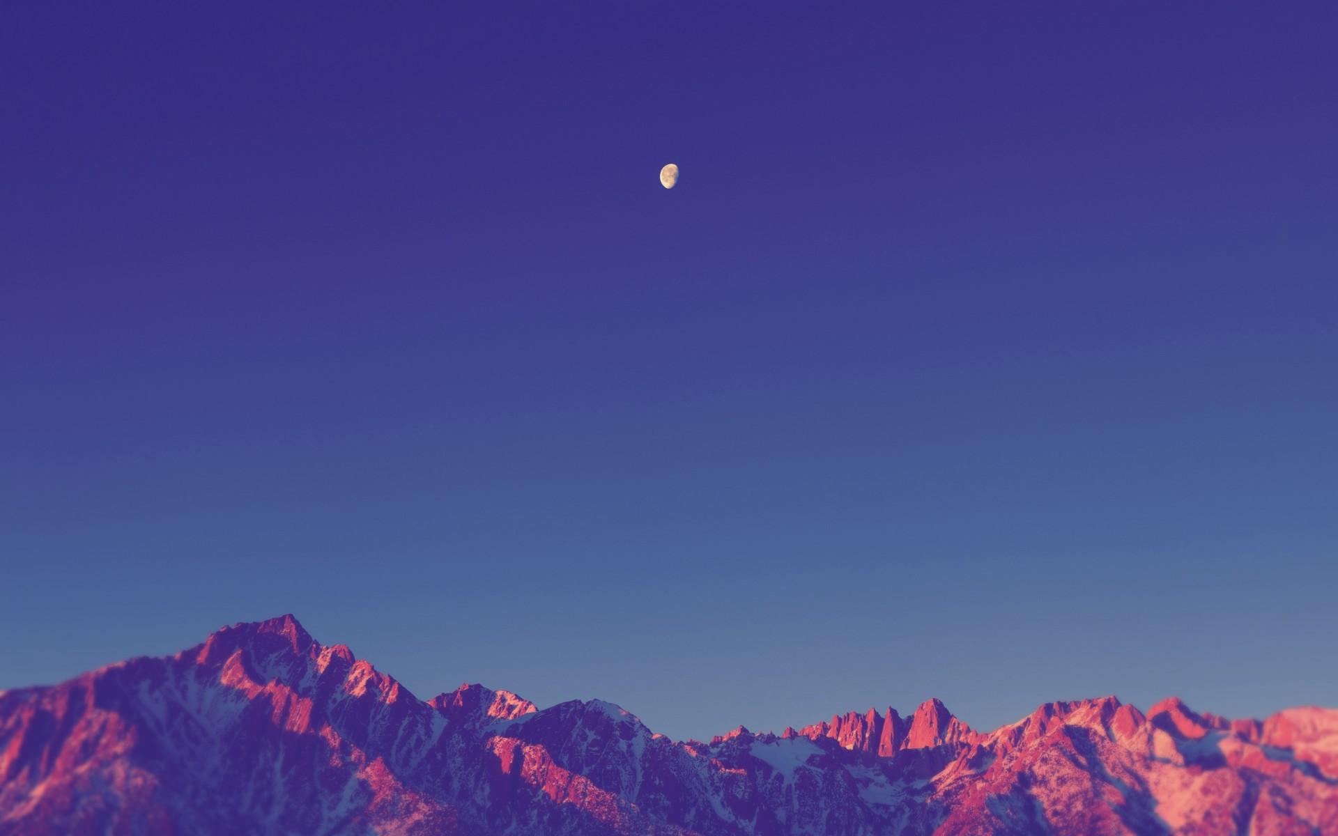 Горы, озеро, поле, звезды, облака без смс