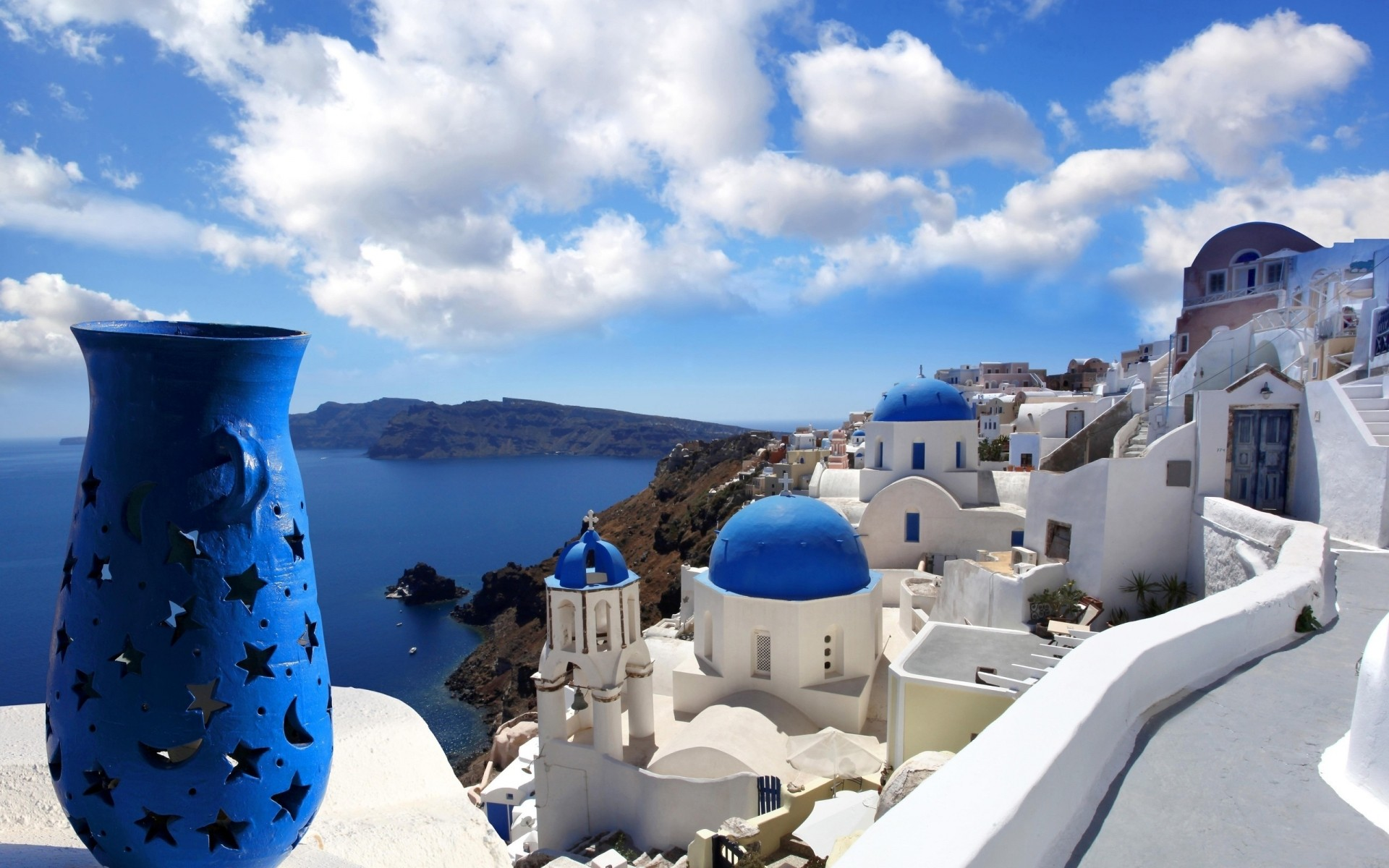 Обои греция, вид на море. Природа foto 17