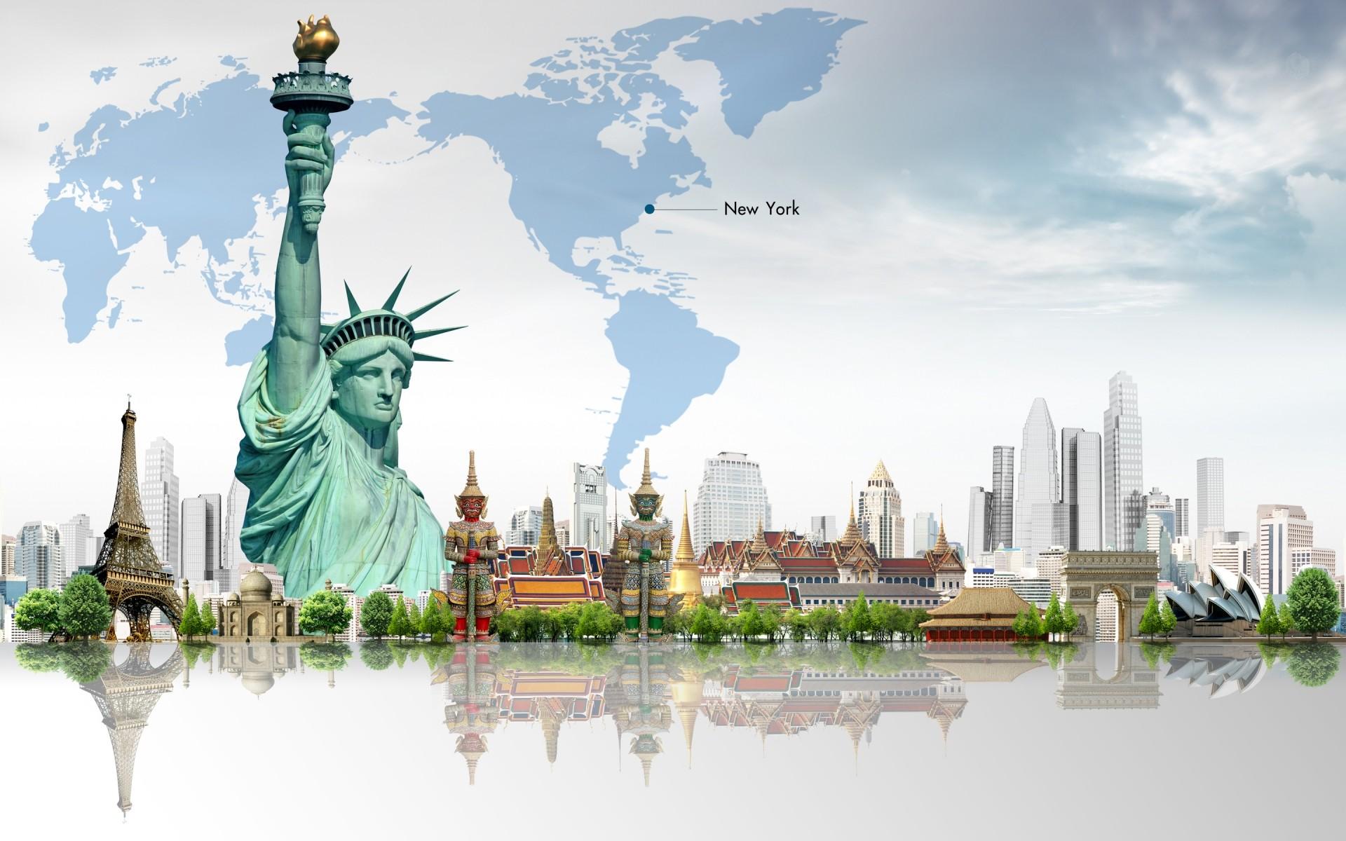 Открытки разных стран мира