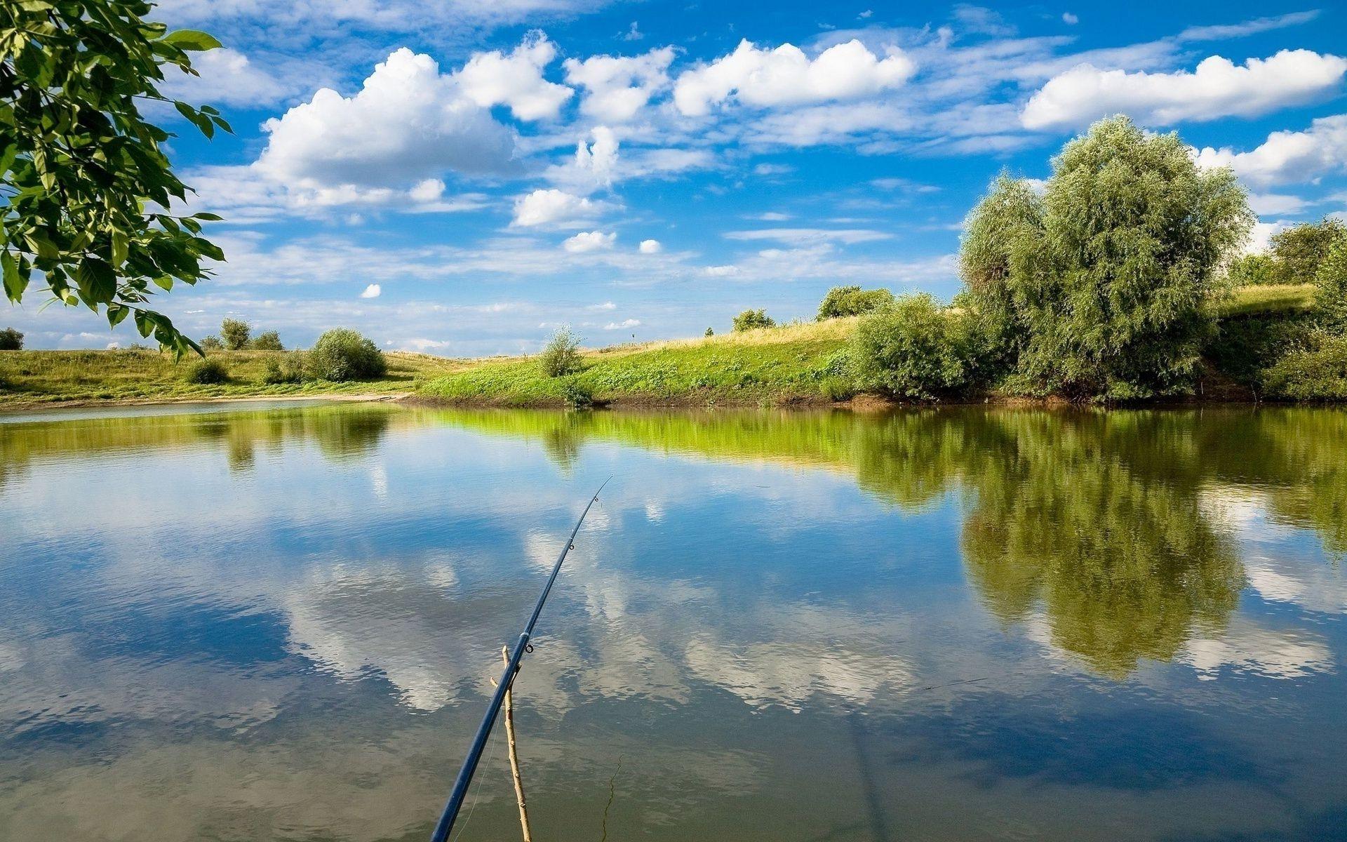Рыбалка на реке летом