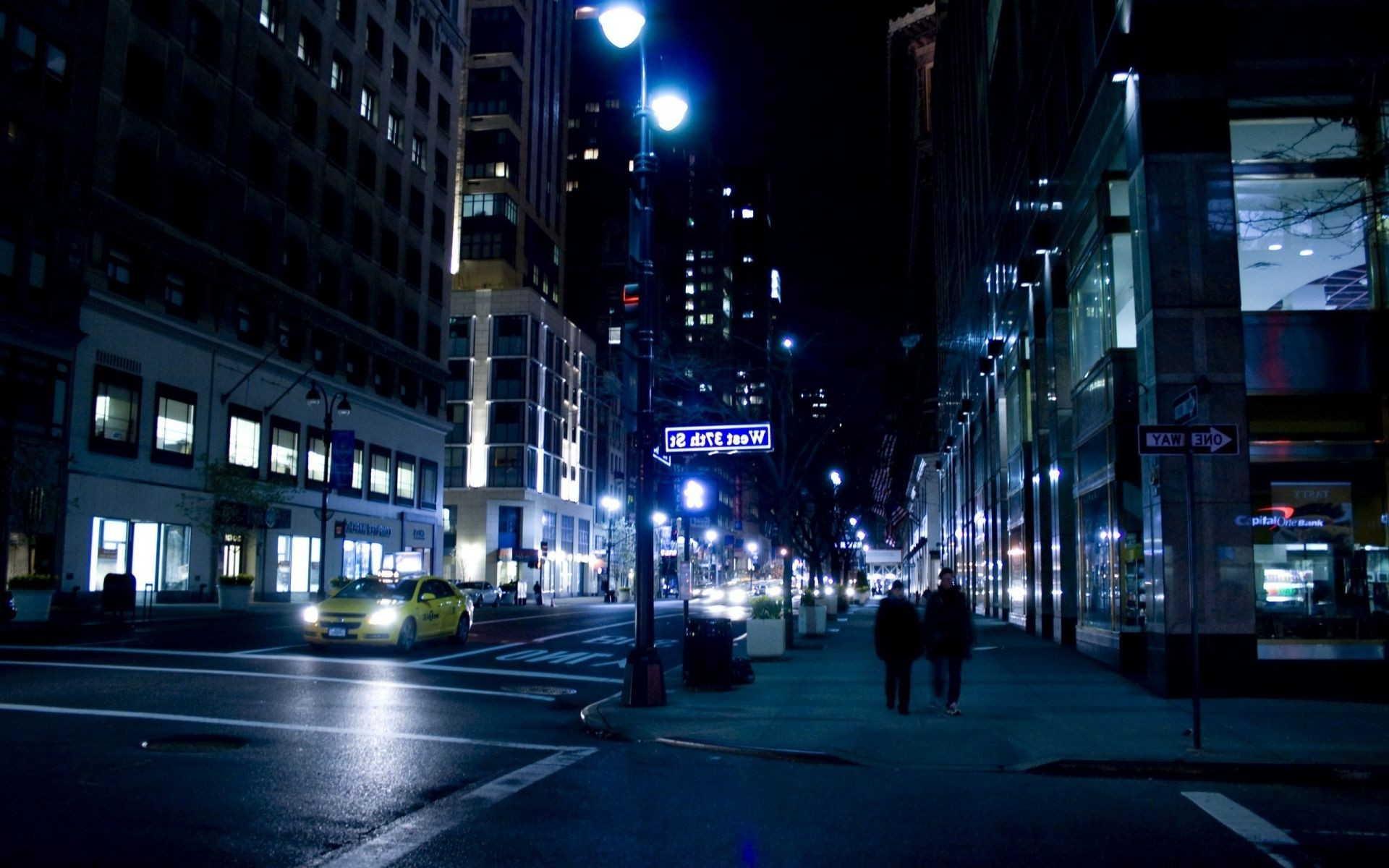 нью-йорк nyc ночь улица night New york city