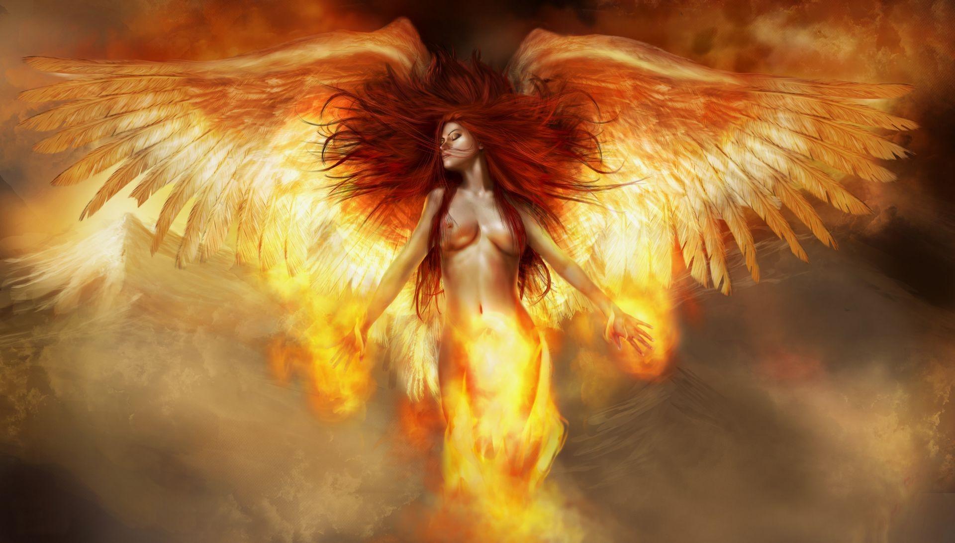 Фото в огне девушки картинки