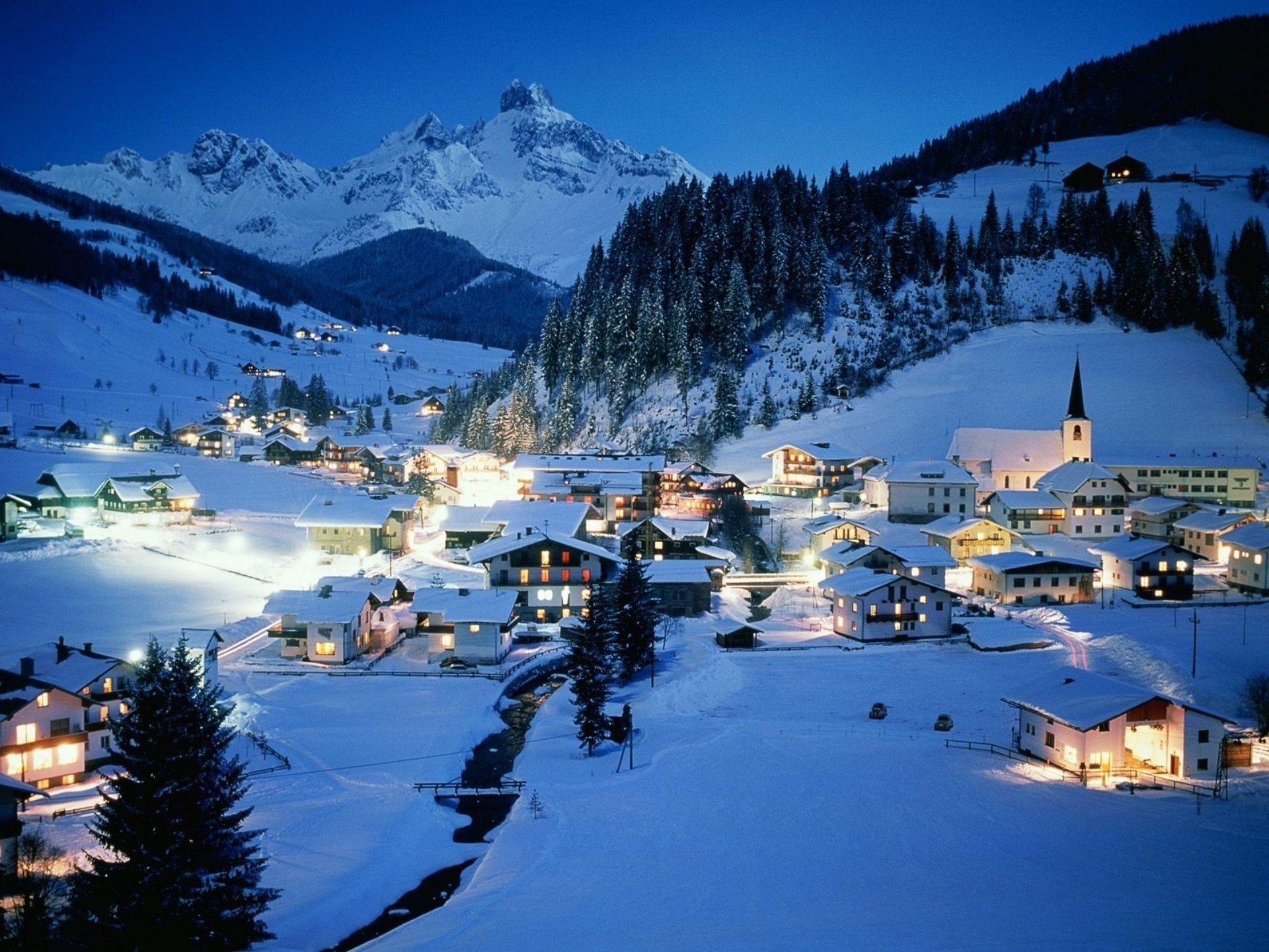 Обои австрия, курорт, ночь, austria. Города foto 7