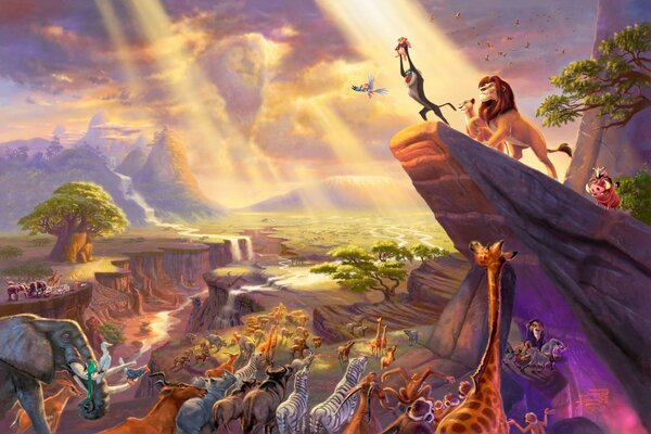 король лев thomas kinkade The lion king живопись paintin
