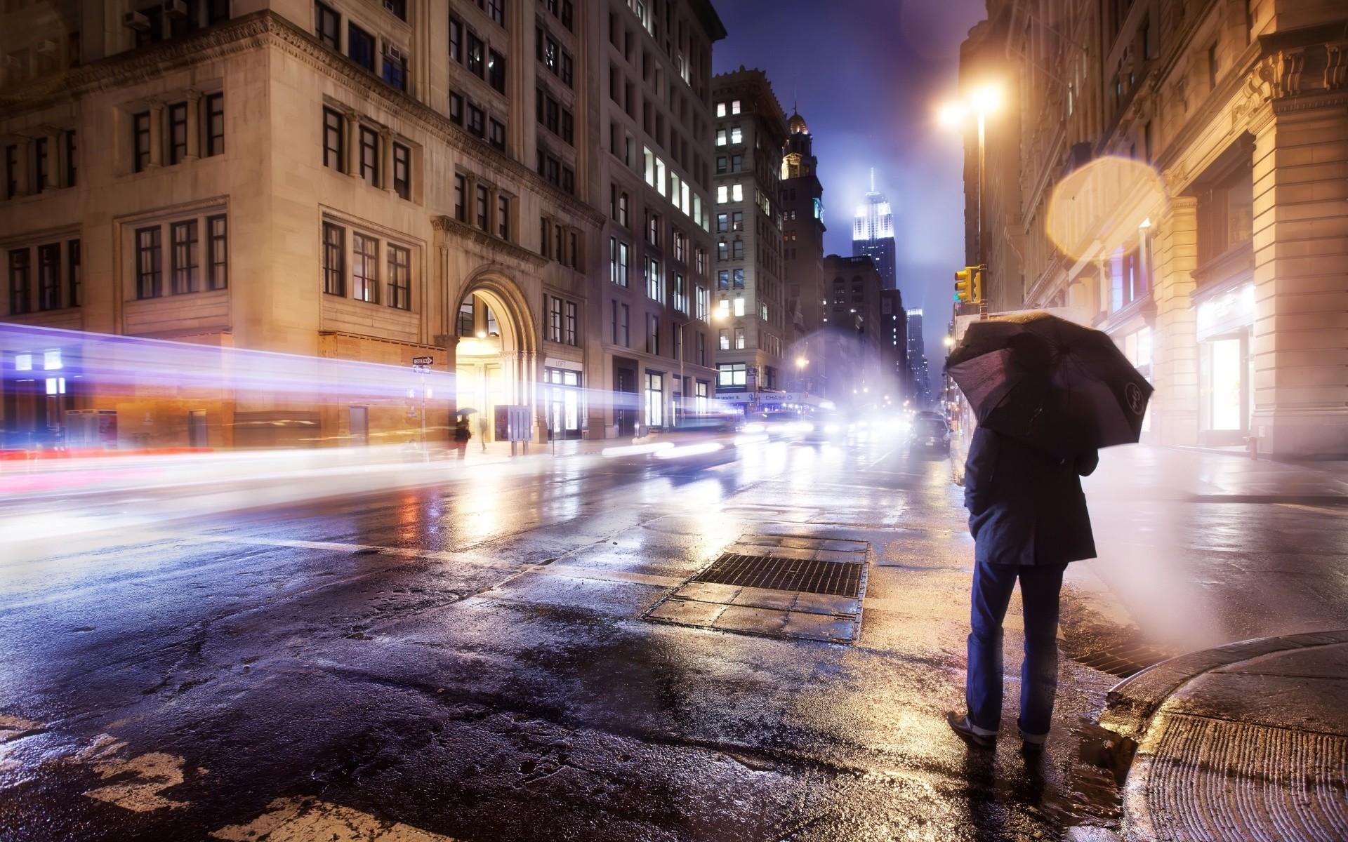 Обои тротуар, здания, свет. Города foto 16