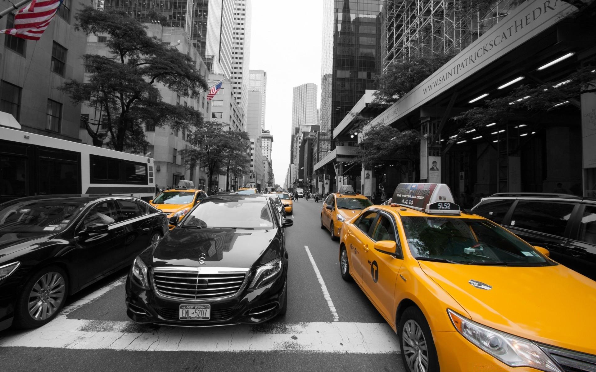 Обои такси, улица. Города foto 19