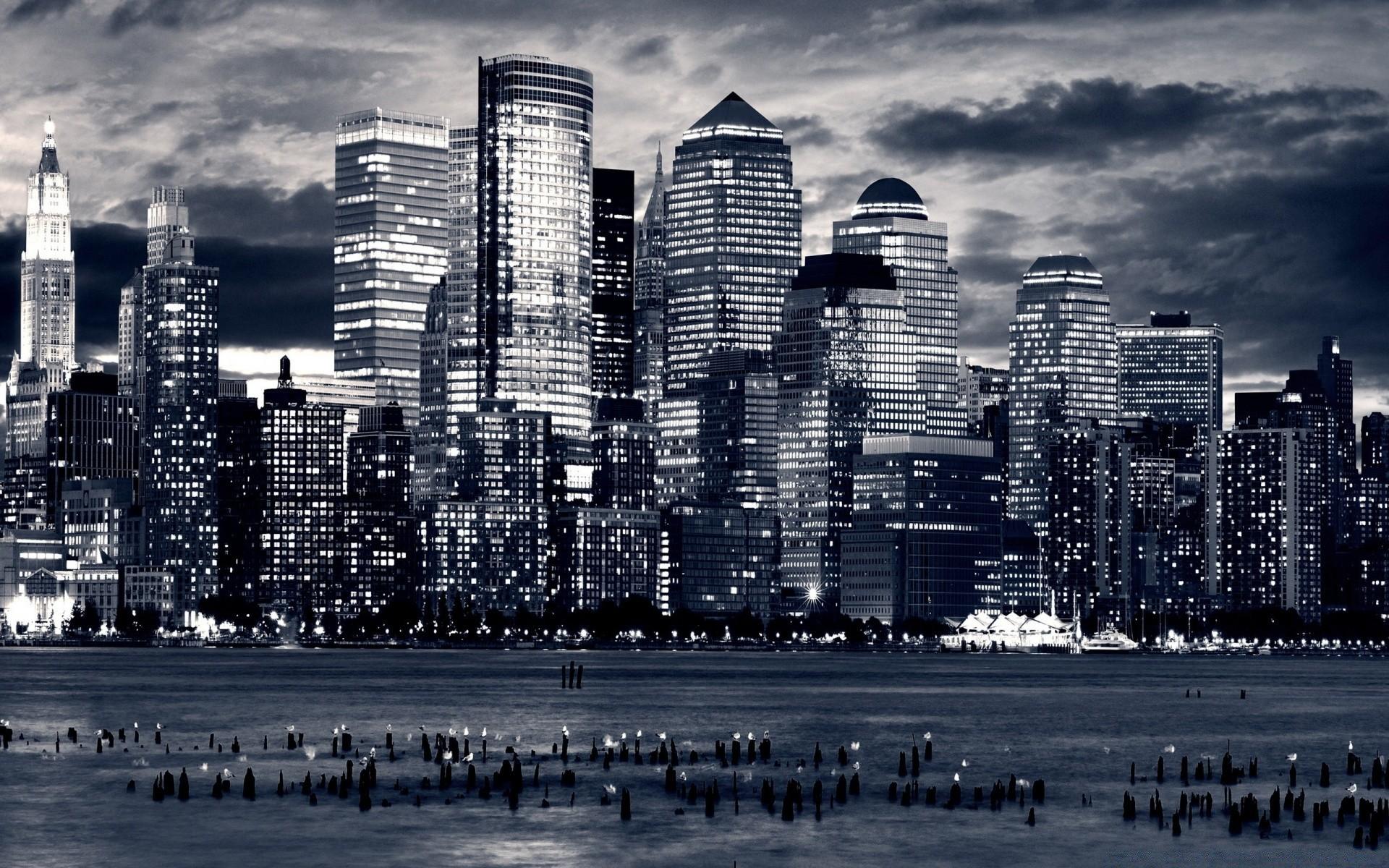 Черно белые картинки города на рабочий стол