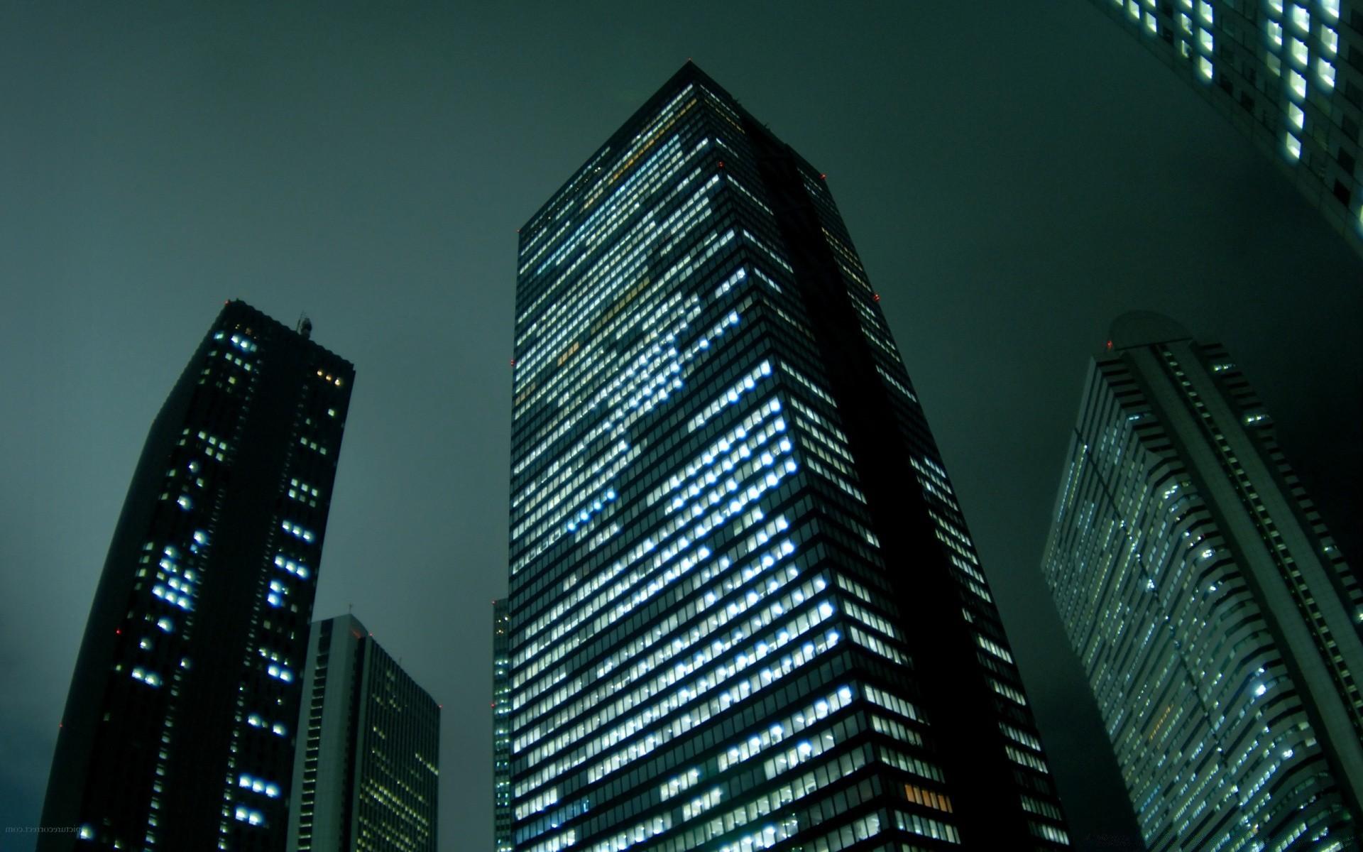 Обои небоскребы, ночь, дома. Города foto 12