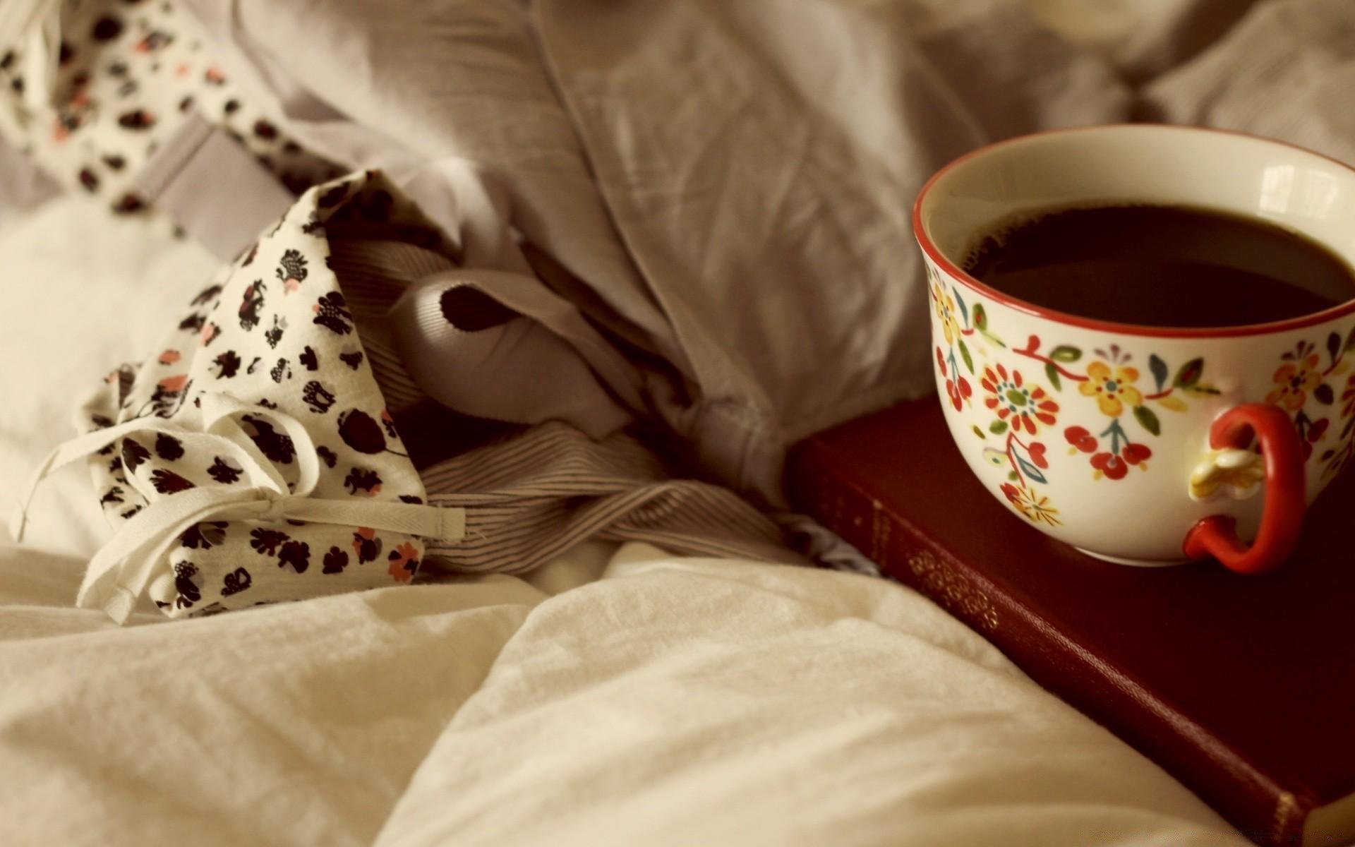 Днем, картинки кофе постель