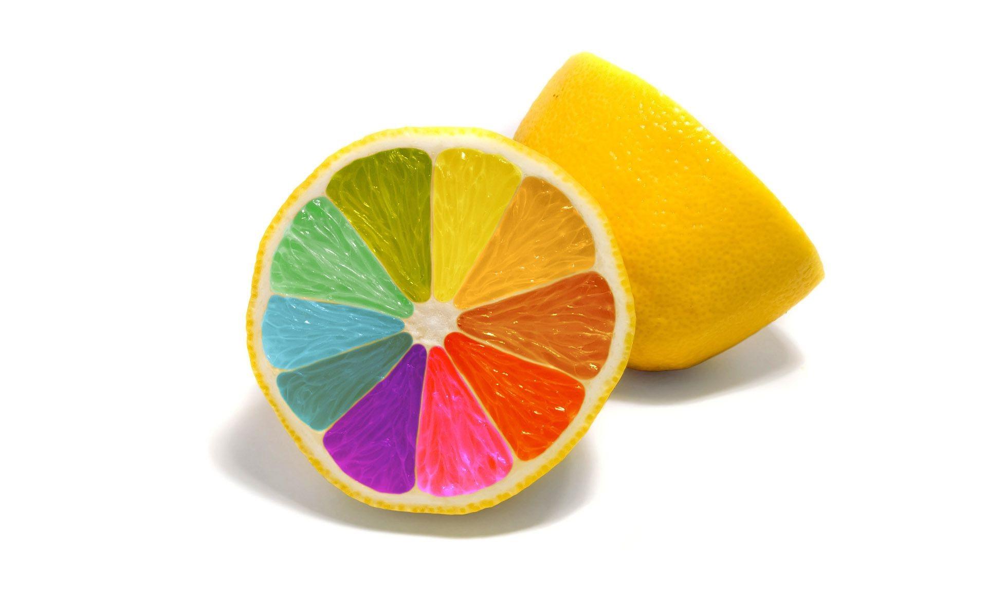 Как сделать лимон синим