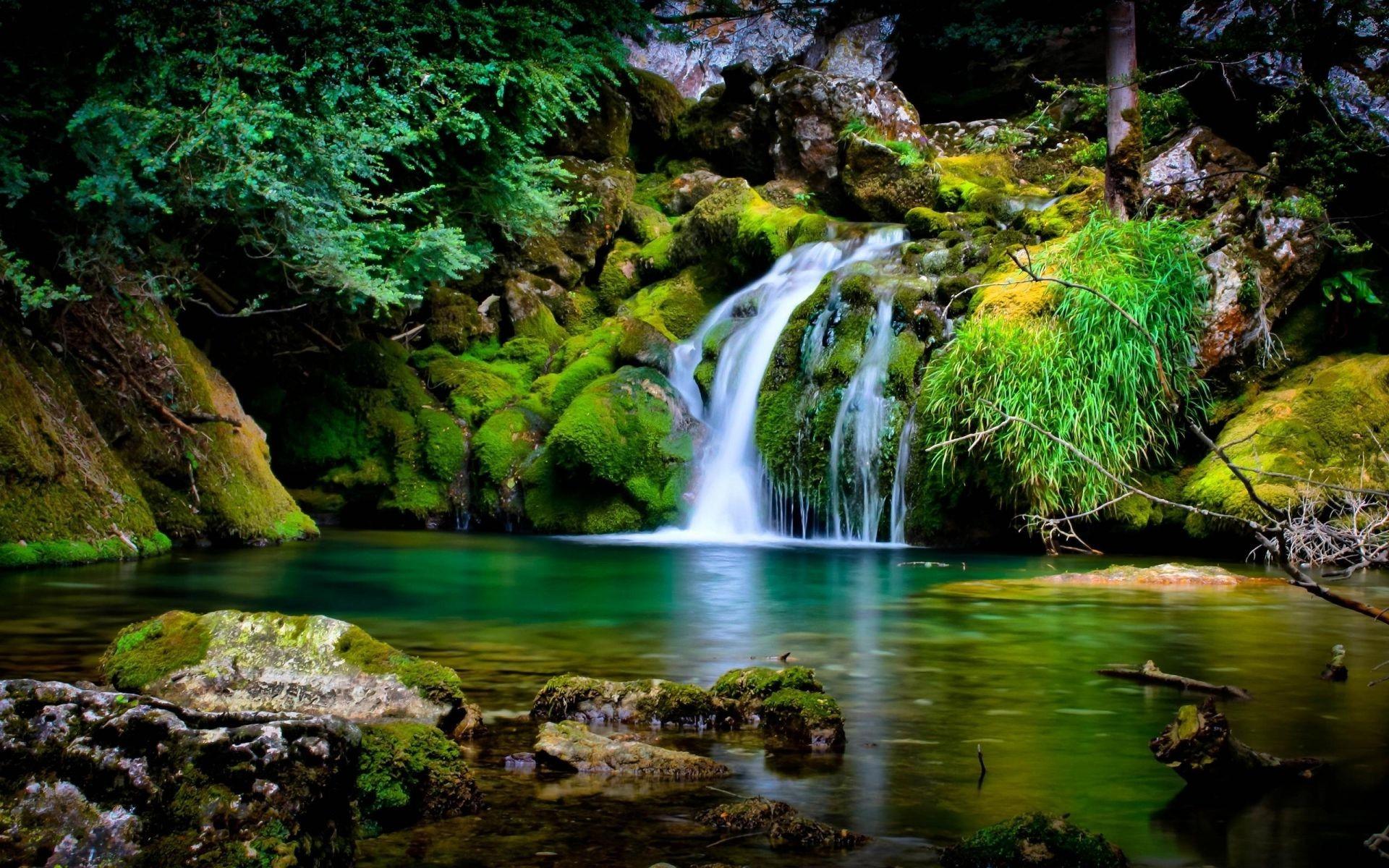 природа водопад  № 394178 без смс