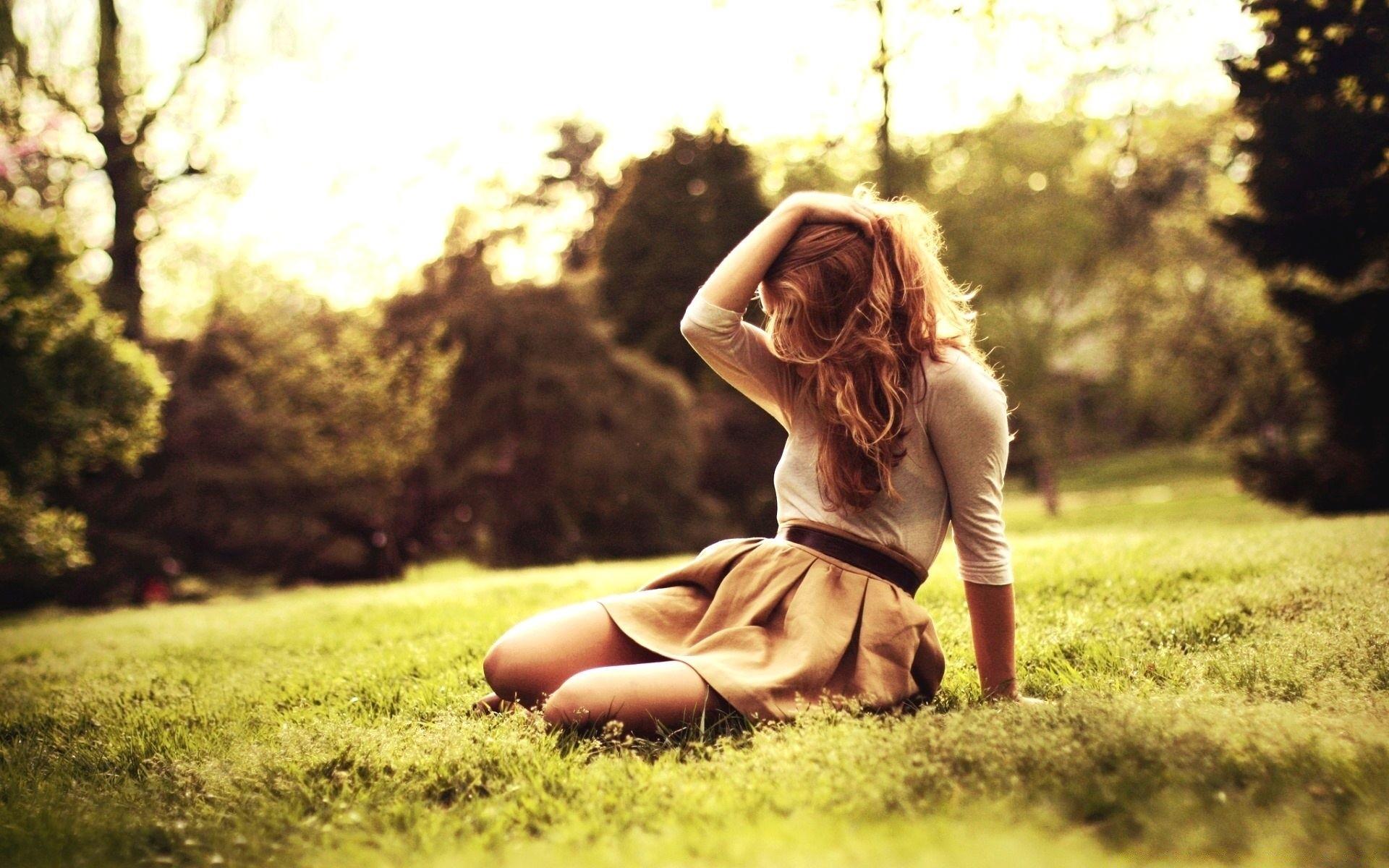 Фото на природе девушек на аву в
